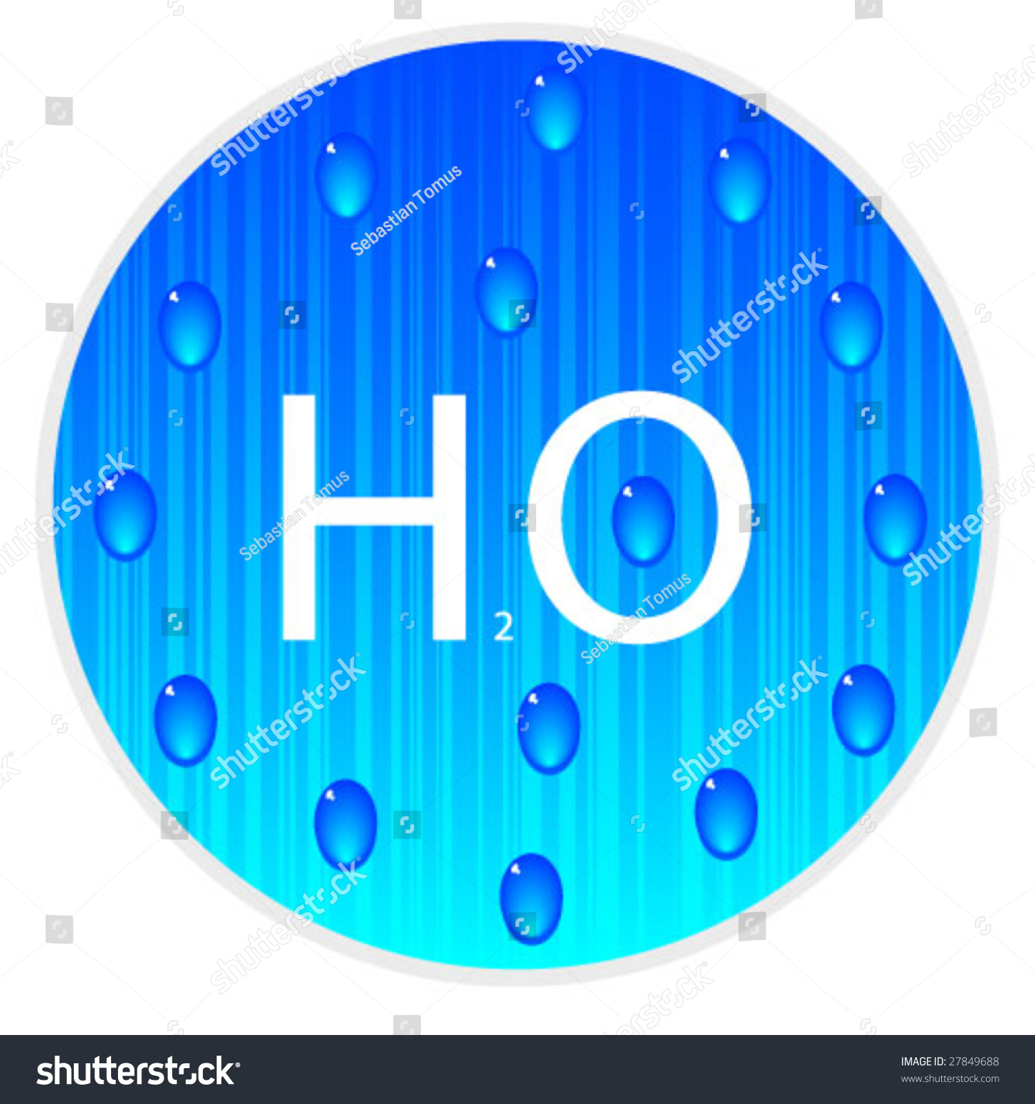 Chemical symbol water h2o vector illustration stock vector 27849688 chemical symbol of water h2o vector illustration buycottarizona Choice Image