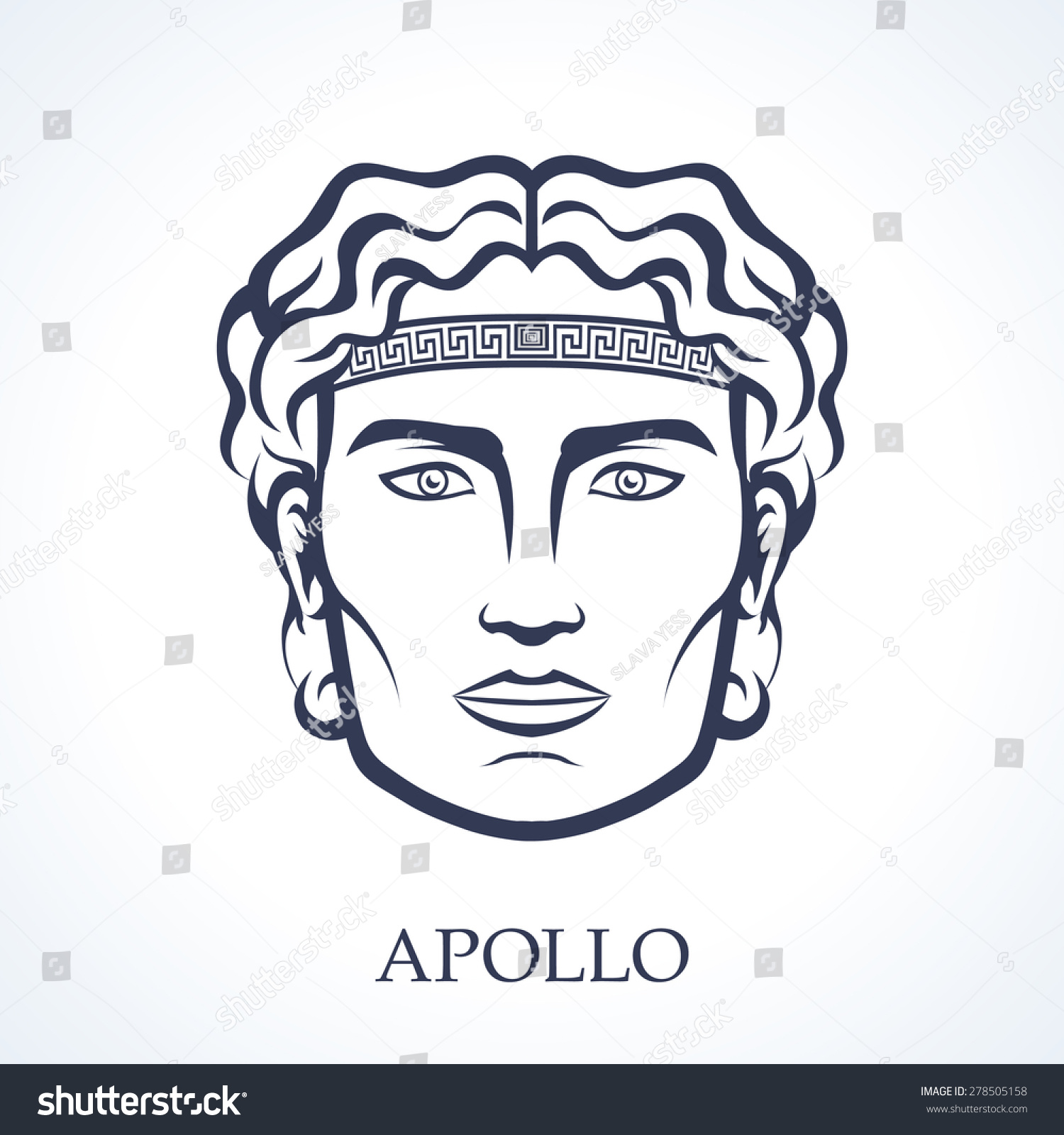 Uncategorized Apollo Greek God apollo ancient greek god music stock vector 278505158 shutterstock of music