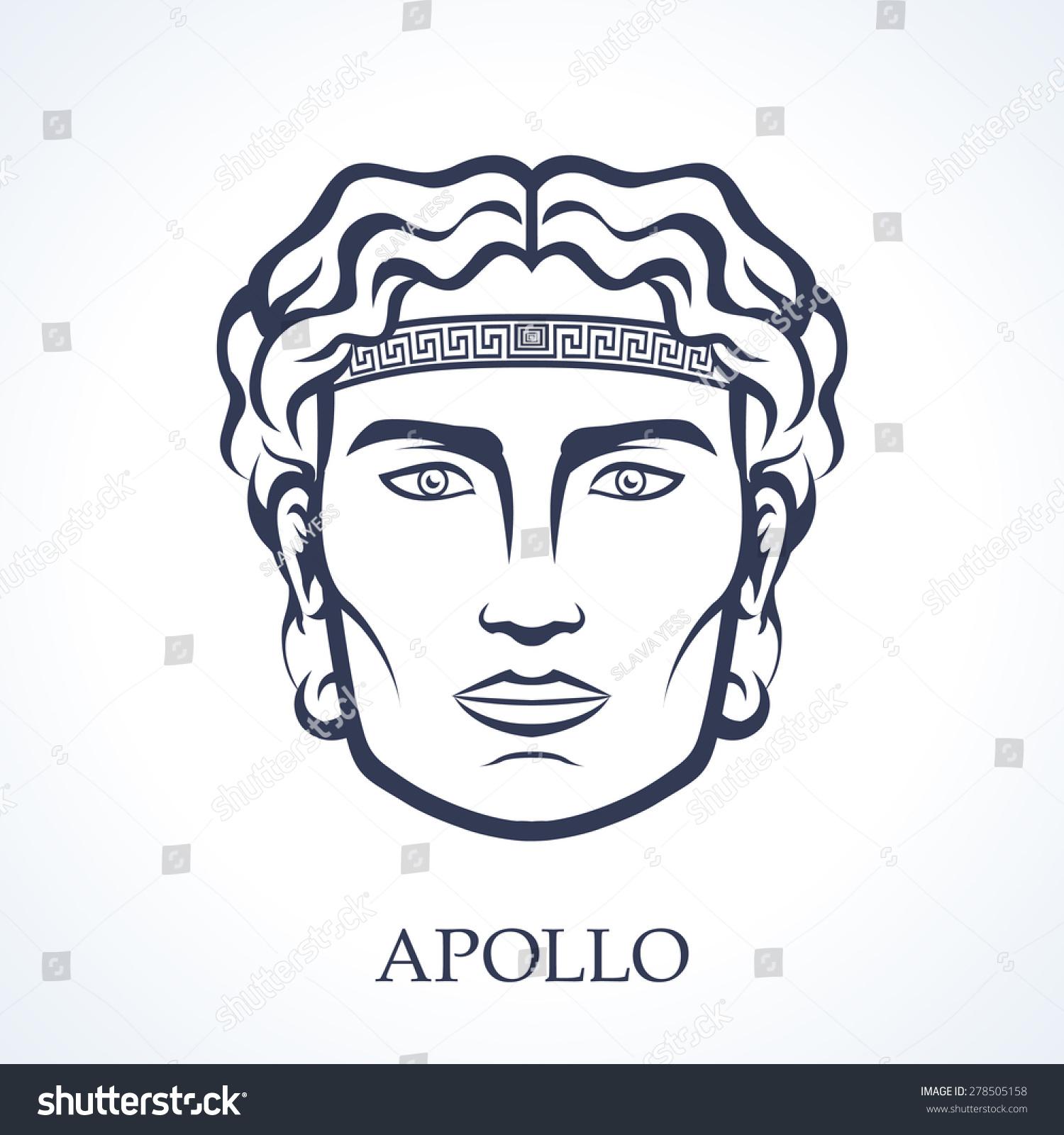 apollo ancient greek god music stock vector 278505158