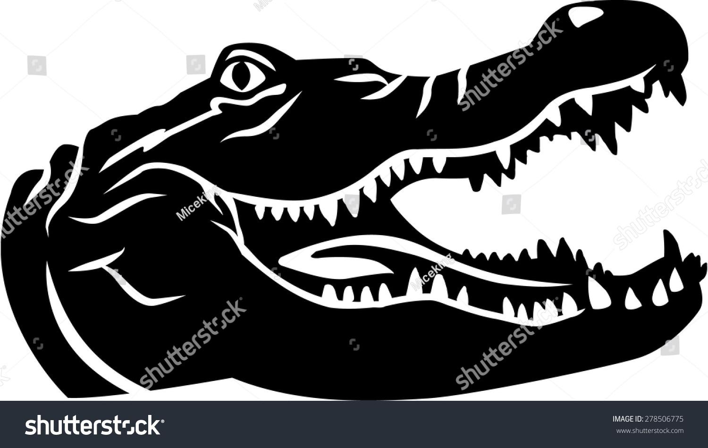 Crocodile Head Stock Vector 278506775 - Shutterstock