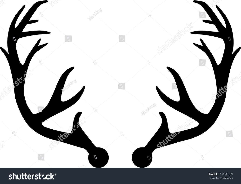 Deer Antler Stock Vector 278509199 - Shutterstock