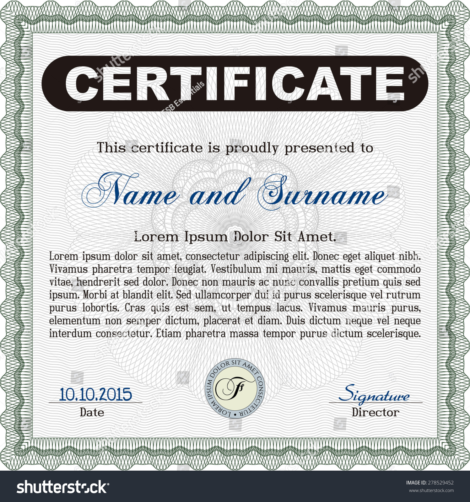 Diploma certificate template customizable easy edit stock vector diploma or certificate template customizable easy to edit and change colorsinter friendly yelopaper Images