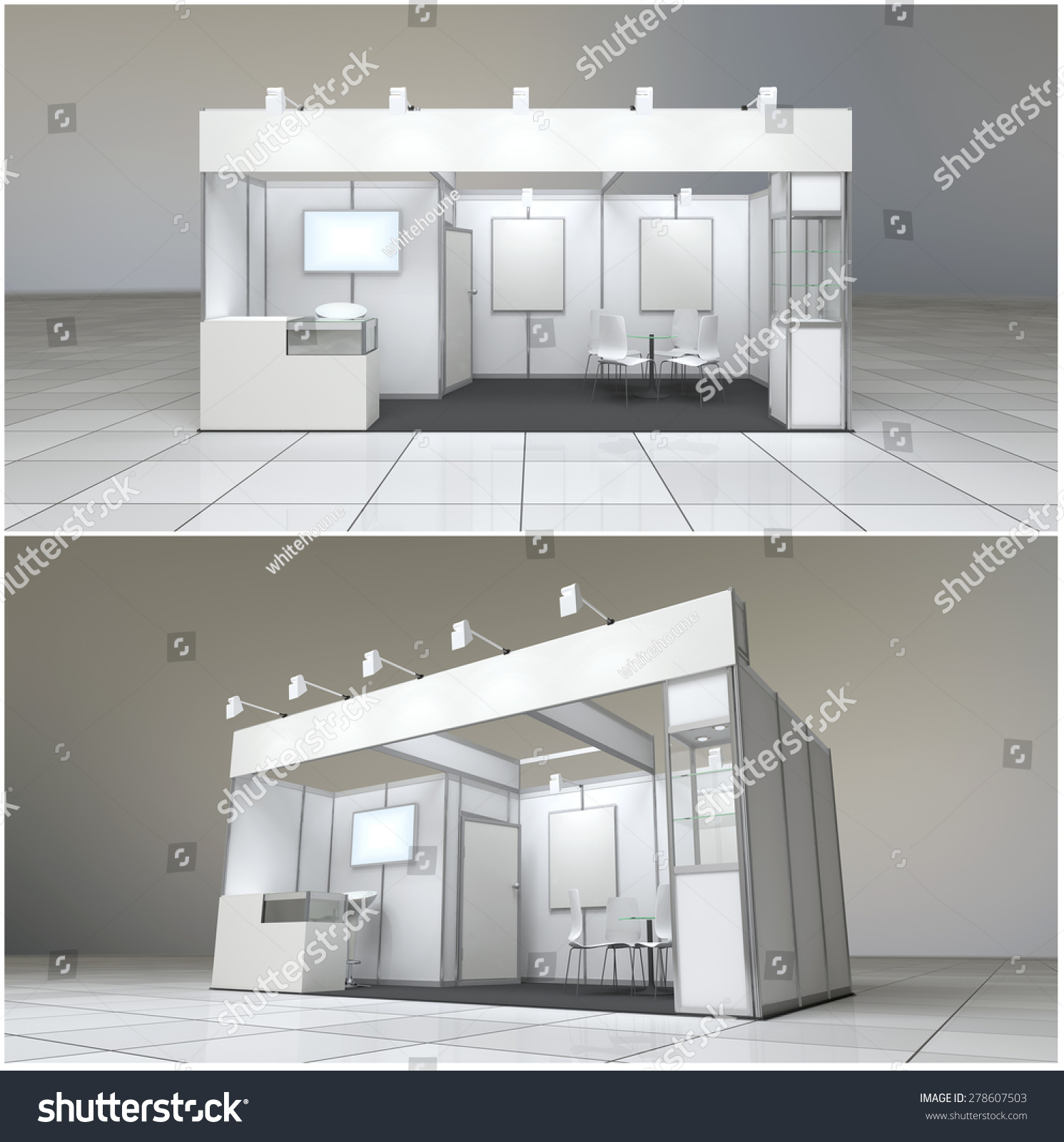 Modern Exhibition Stand : Modern exhibition stand sq m with blank frieze and