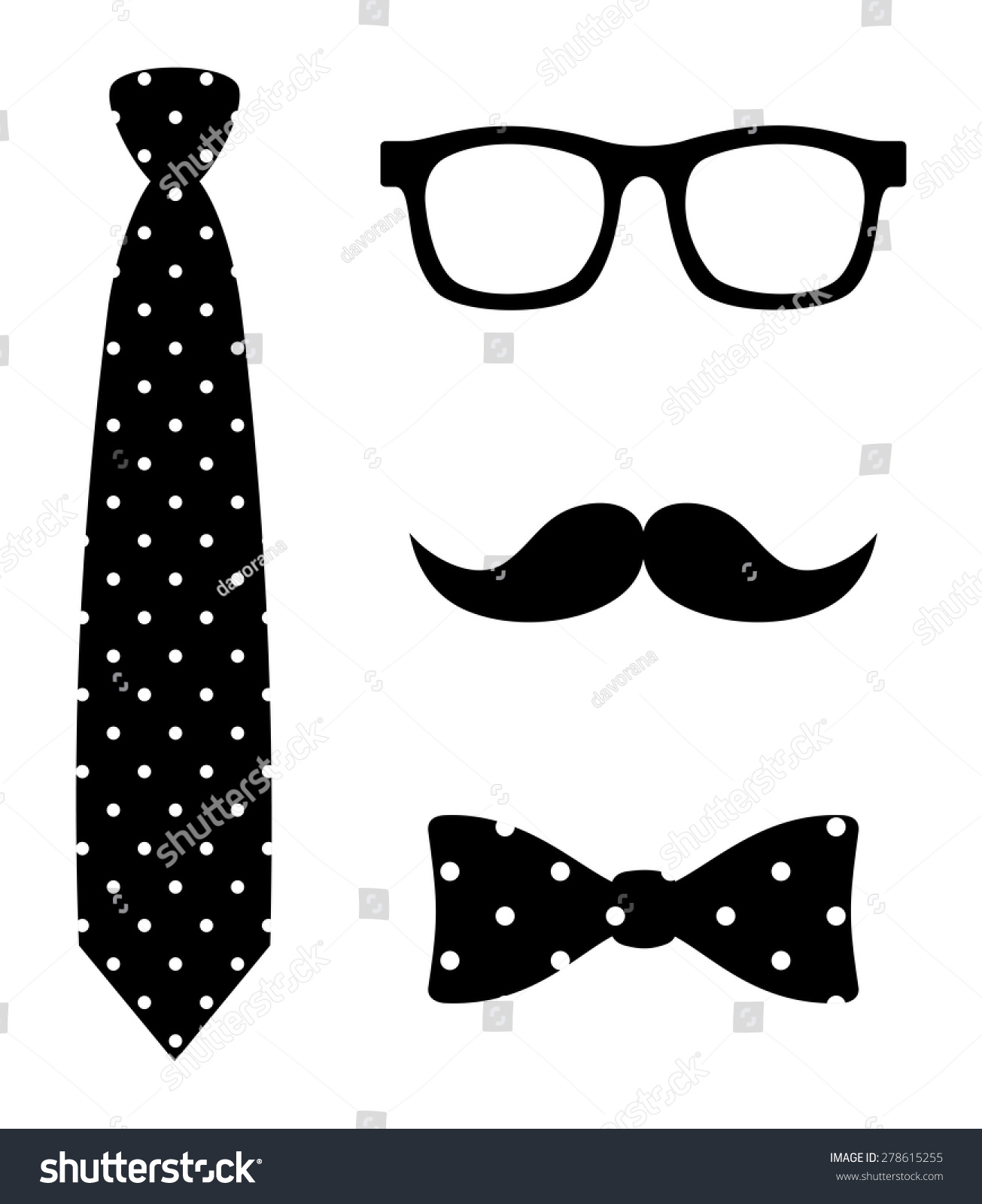 Abstract Old Fashioned Hipster Style Set Stock Vector ...