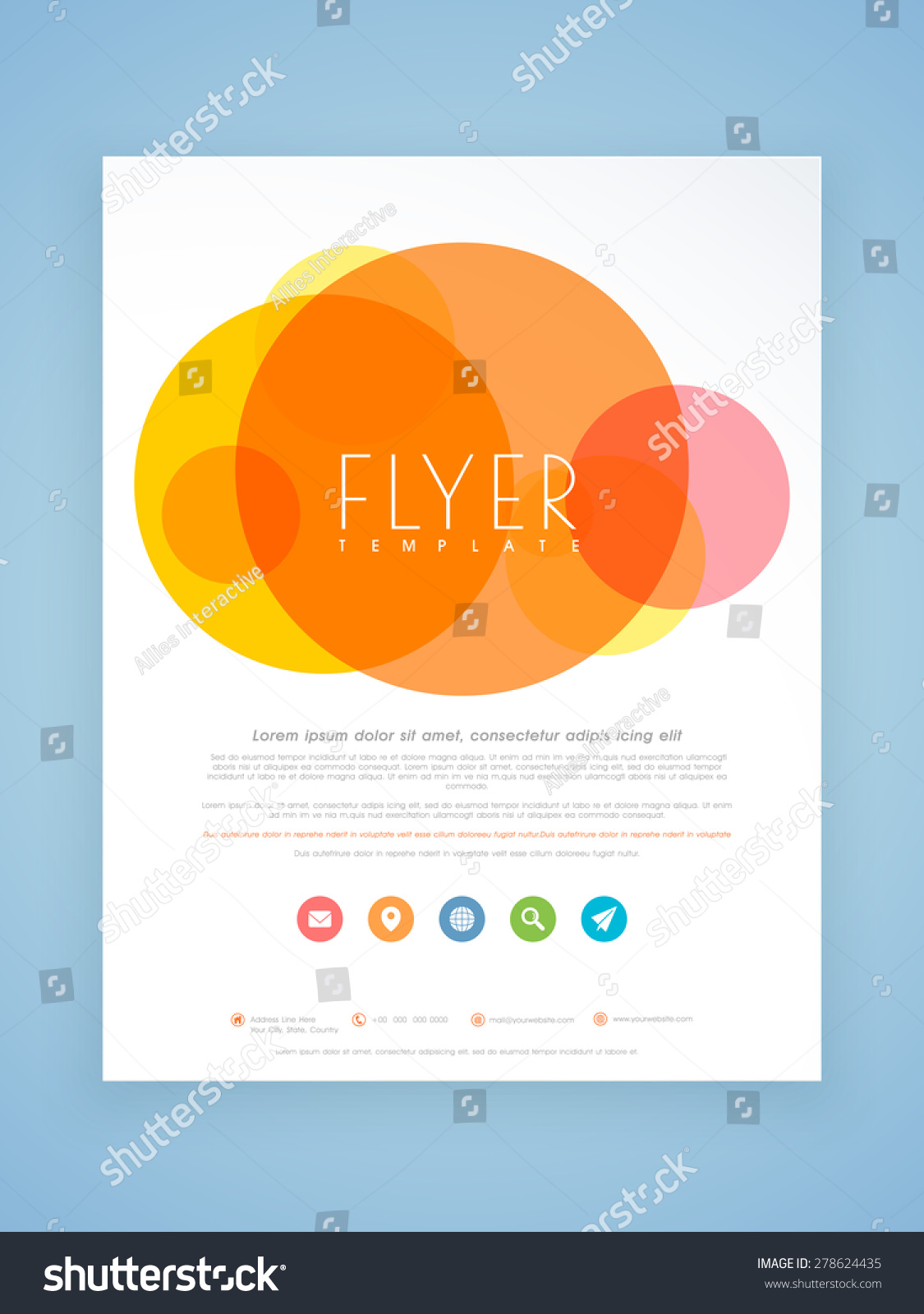 Beautiful professional flyer template brochure design for Attractive brochure designs