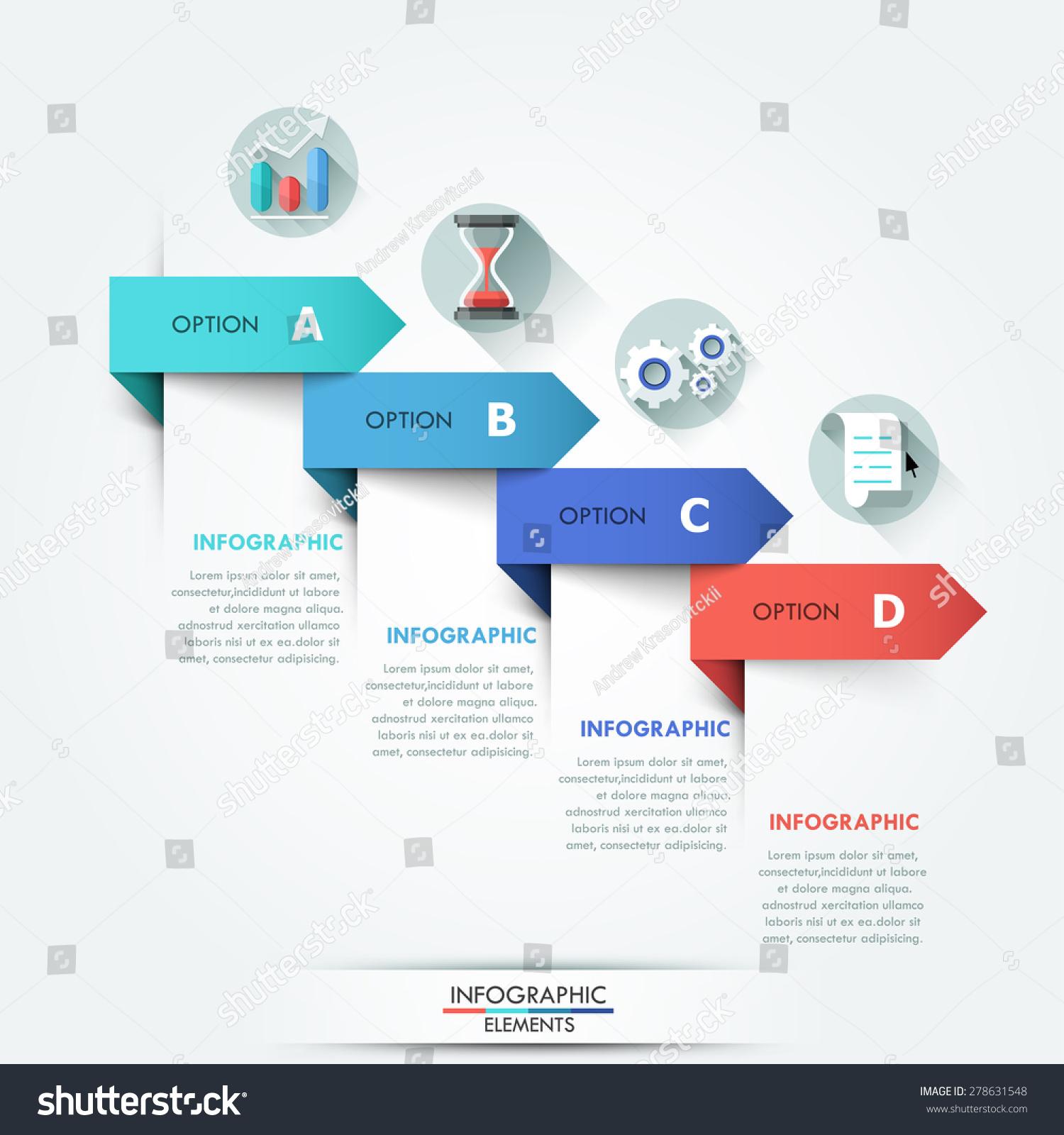 Modern Info Graphics Options Banner 4 Stock Vector ...