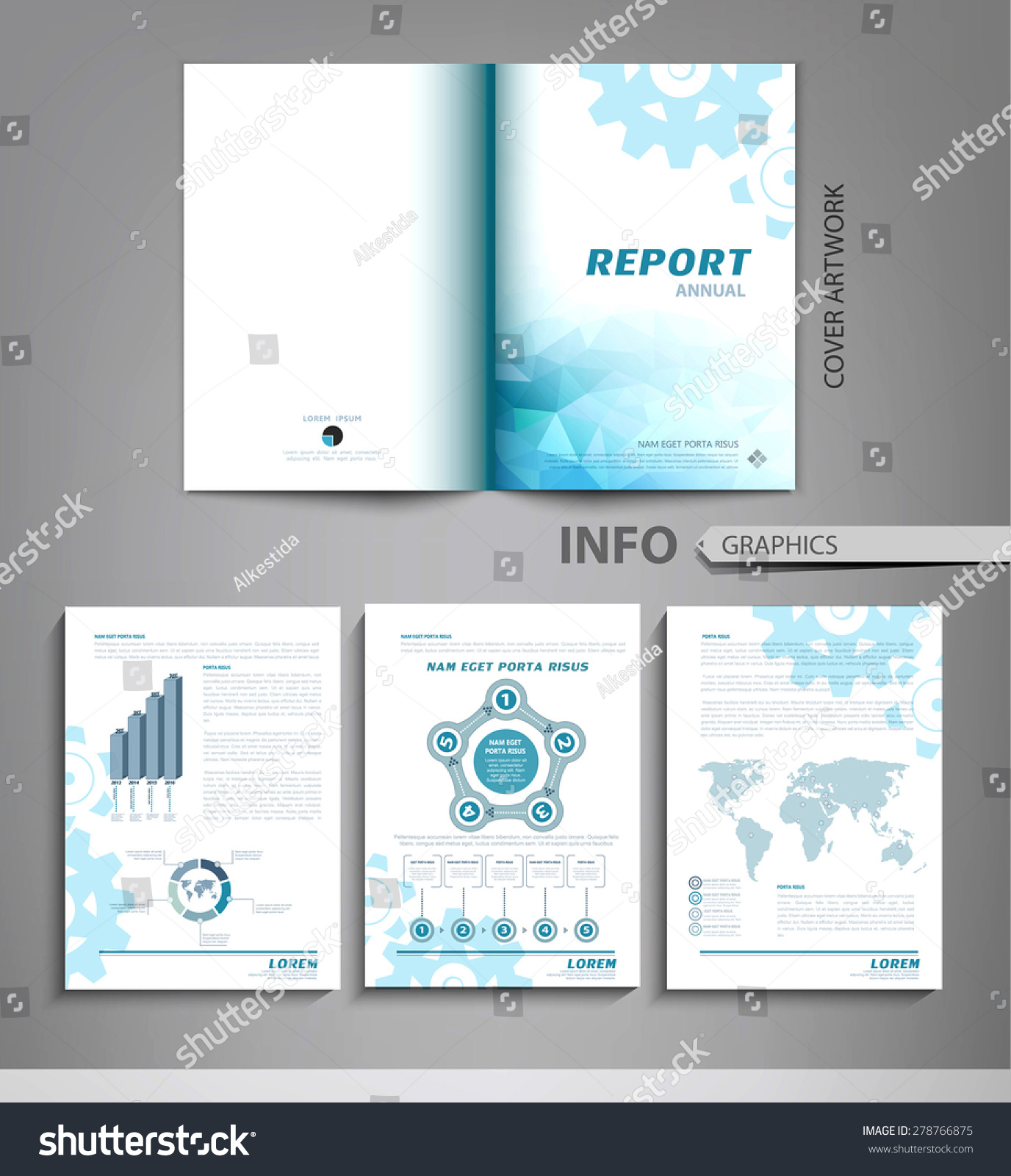 vector set templates business reports advertising stock vector vector set of templates for business reports advertising graphs tables and other