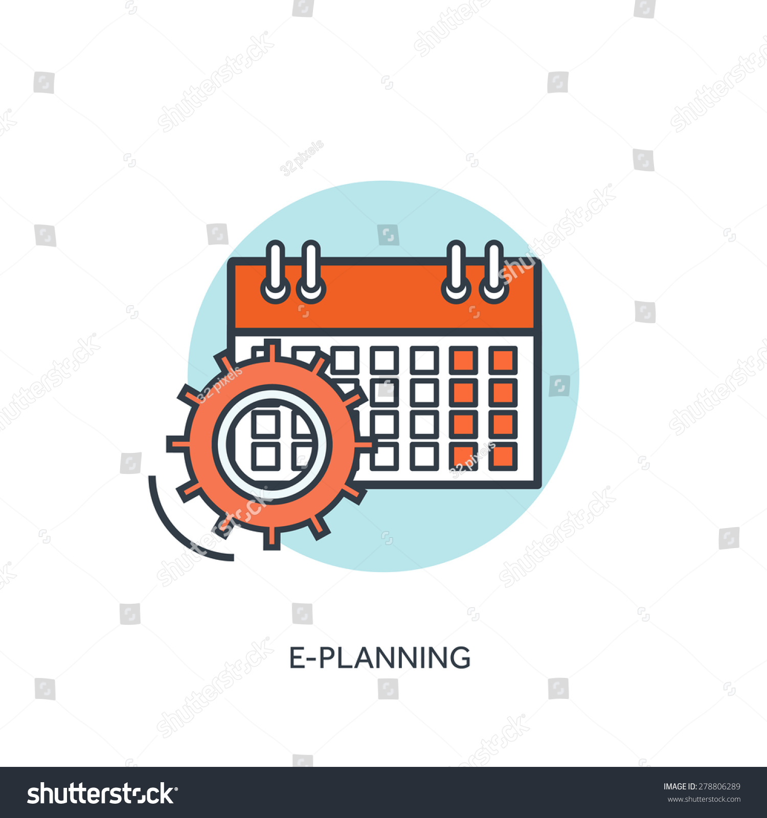 Flat calendar icon Date and time background