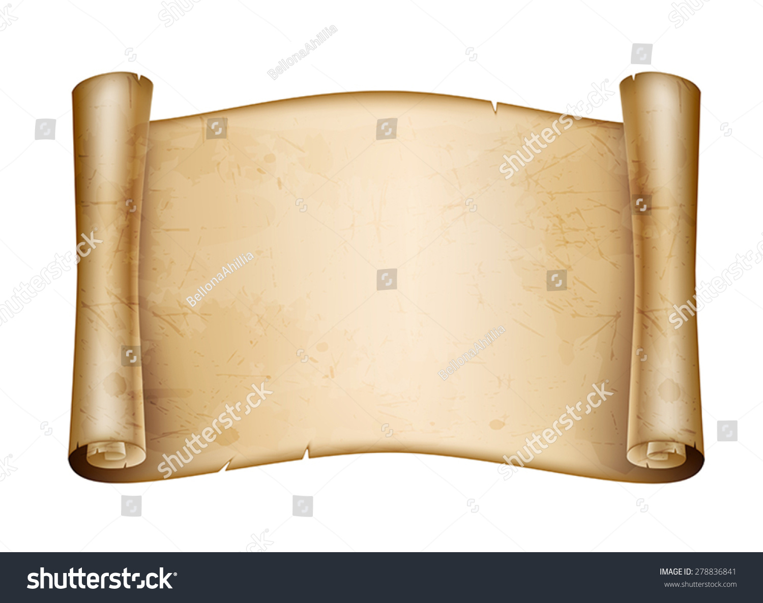 Roll Old Paper Stock Vector Illustration 278836841 ...  Old