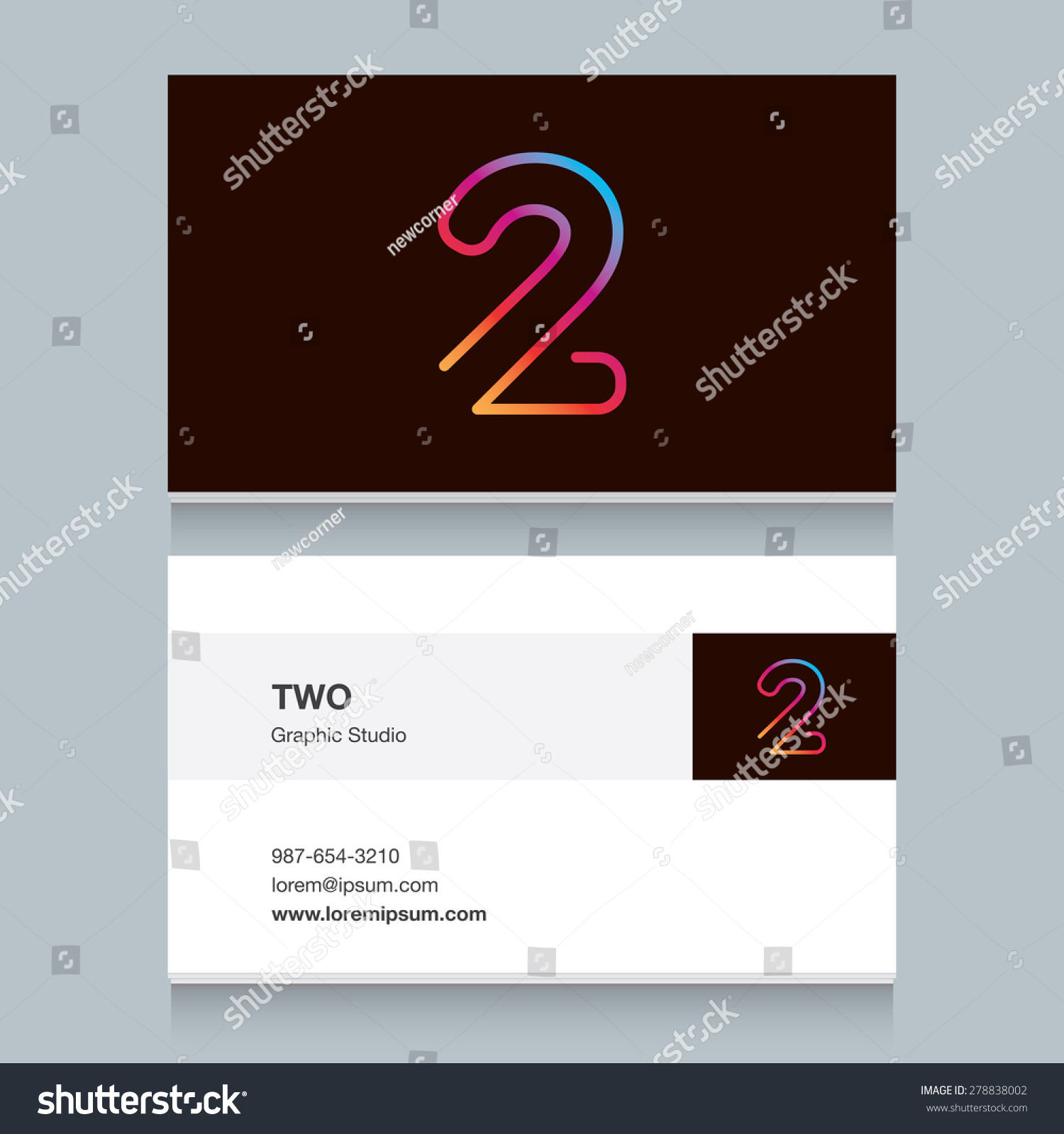 Logo number two 2 business card stock vector 278838002 shutterstock logo number two 2 with business card template vector design fully editable magicingreecefo Image collections