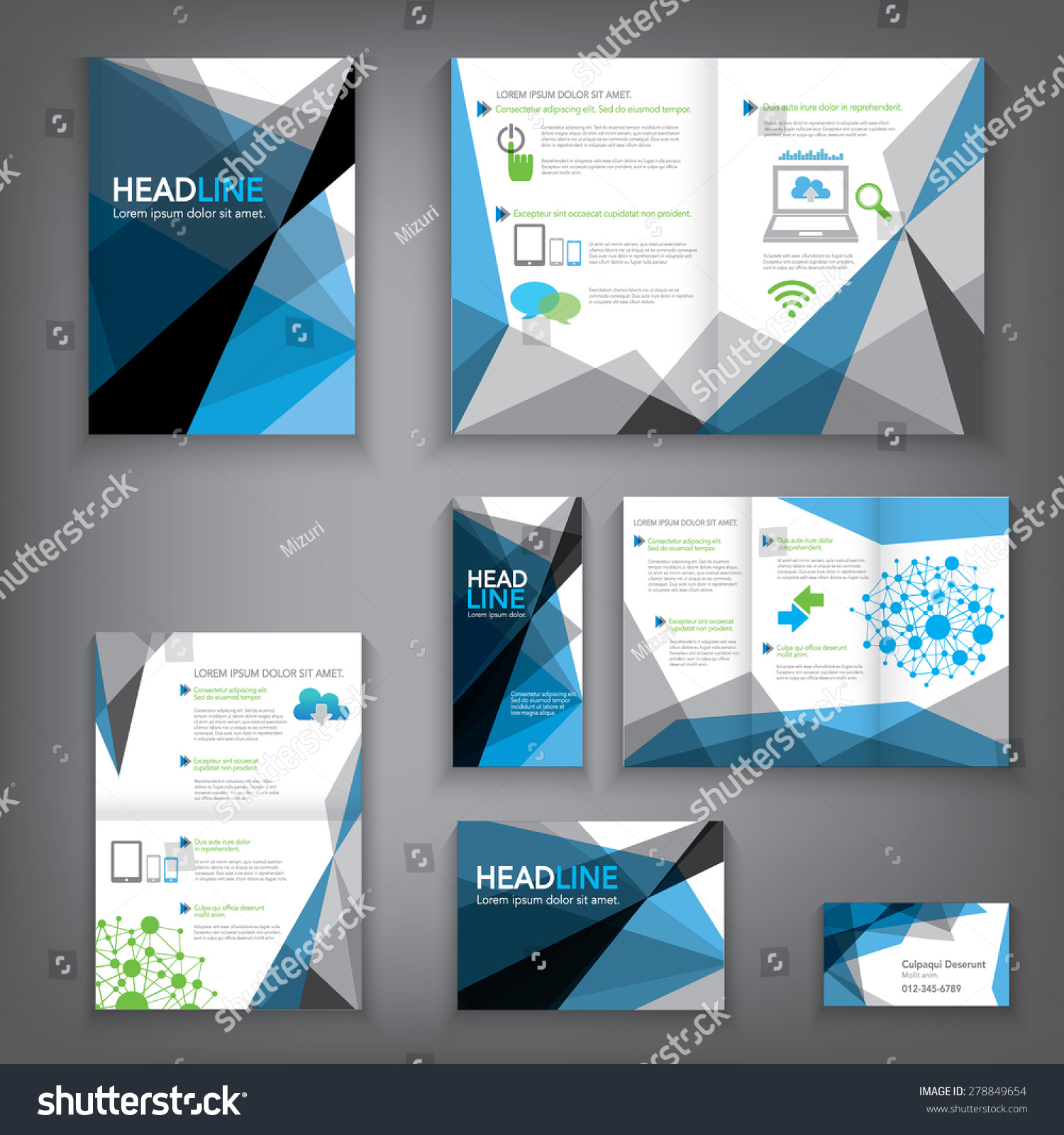 Design Abstract Vector Brochure Template Flyer Stock Vector Royalty
