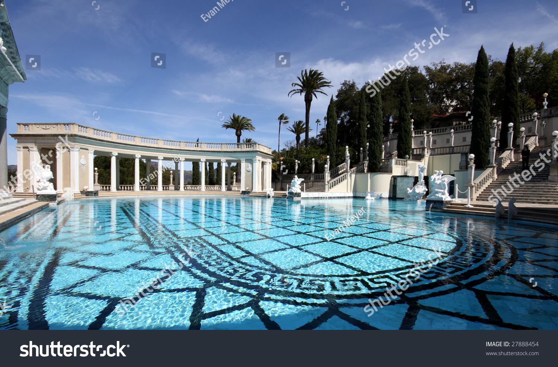 Fancy swimming pool hearst castle stock photo 27888454 - Hearst castle neptune pool swim auction ...