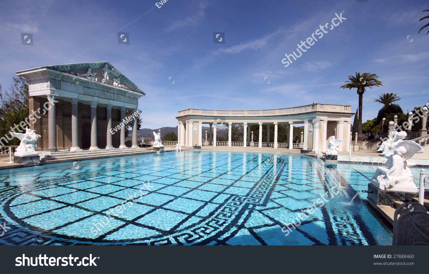 large roman outdoor swimming pool stock photo 27888460 - shutterstock