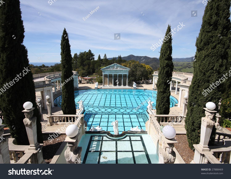 Elaborate pool at hearst castle california stock photo for Elaborate swimming pools