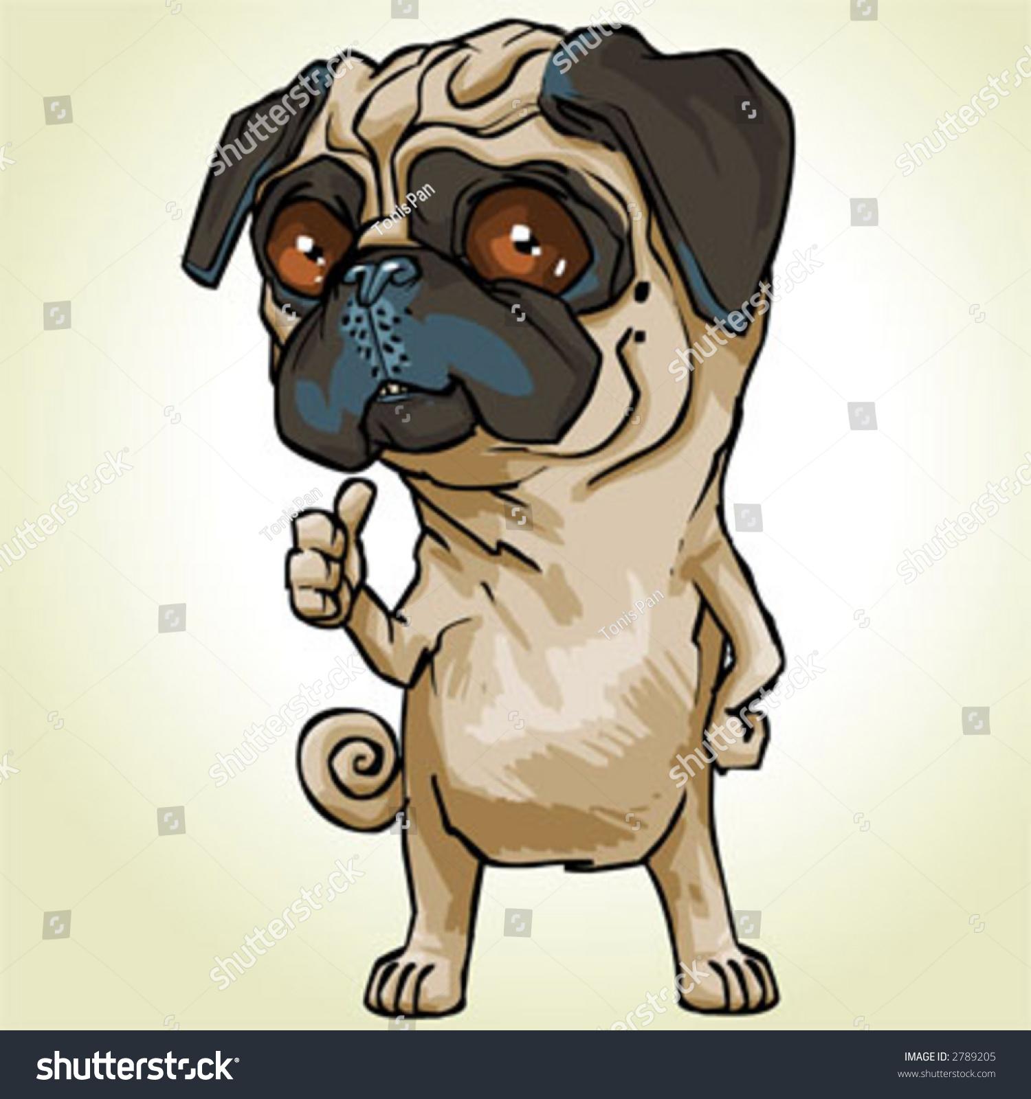 how to draw a cartoon pug