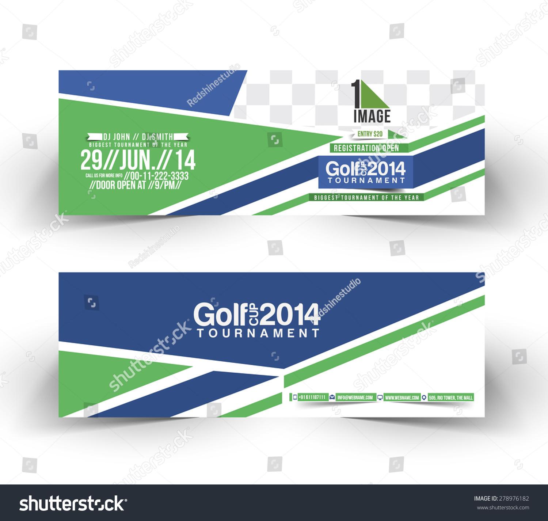 golf banner design