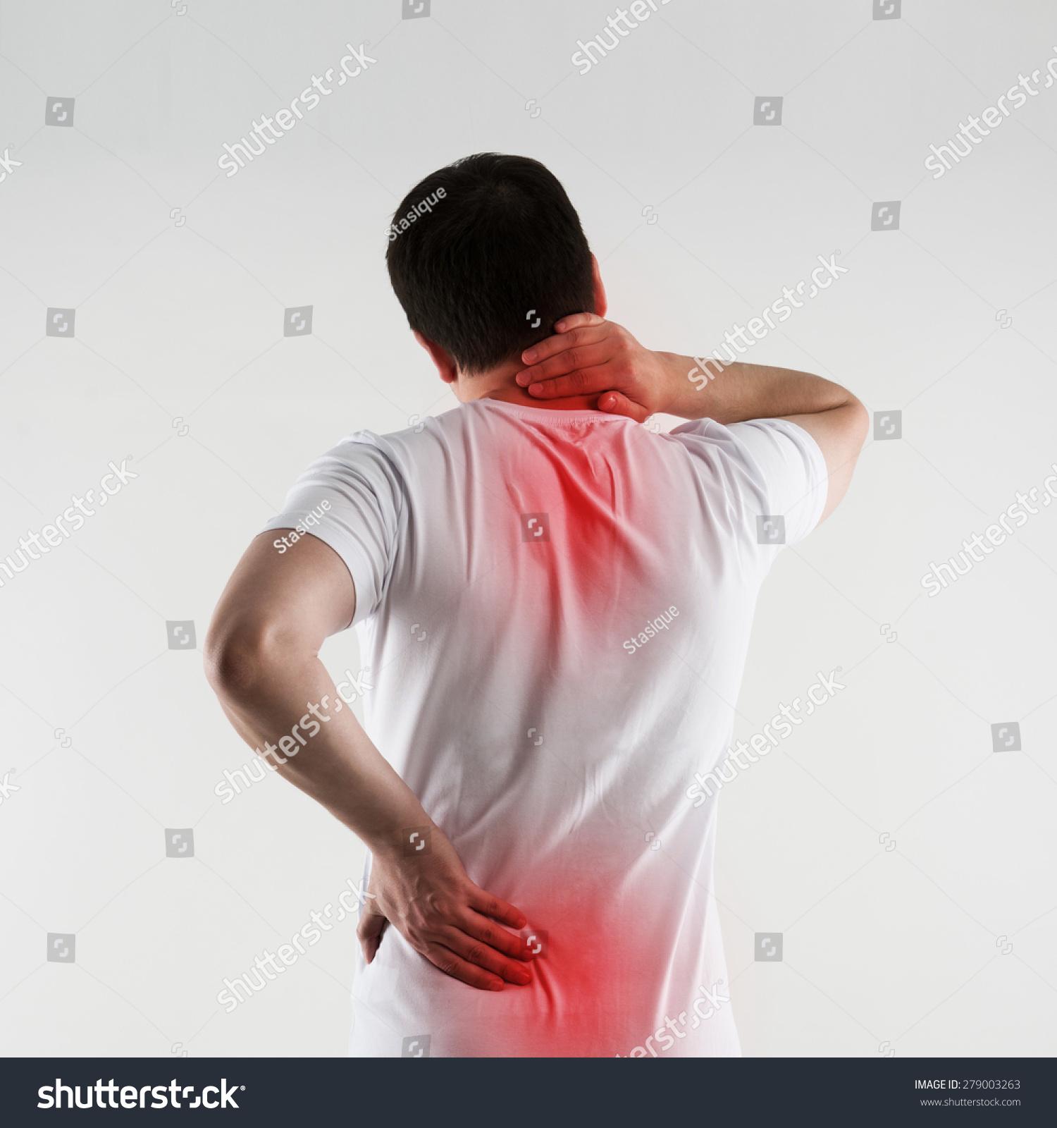 Scoliosis On Young Man Back Backbone Imagen De Archivo (stock ...