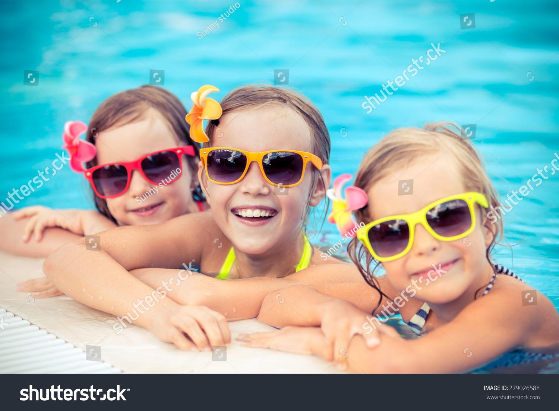 Happy Children Swimming Pool Funny Kids Stock Photo 279026588 Shutterstock