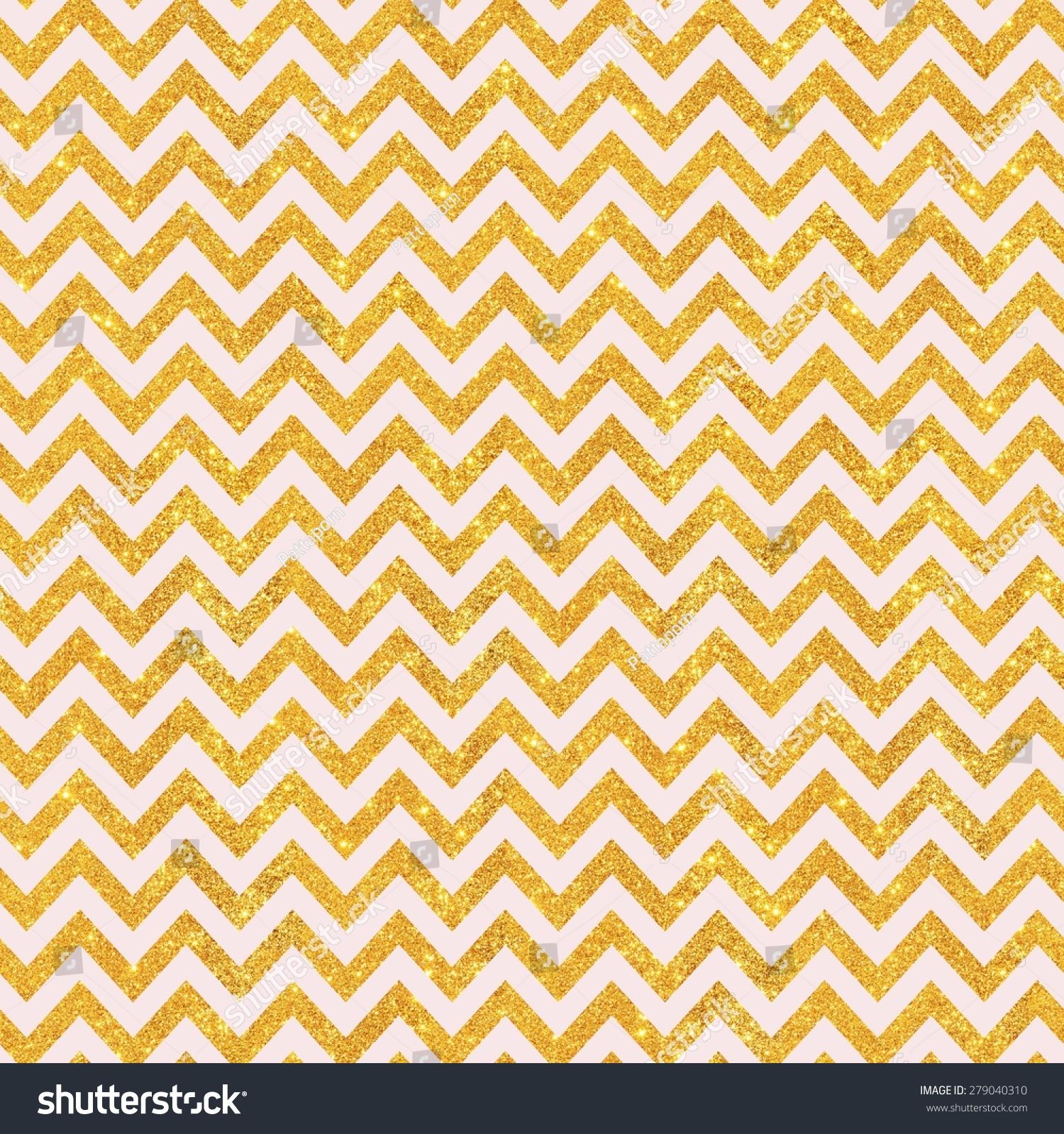 Pink Gold Glitter Chevron Pattern Seamless Texture Background Digital Paper For Scrapbook