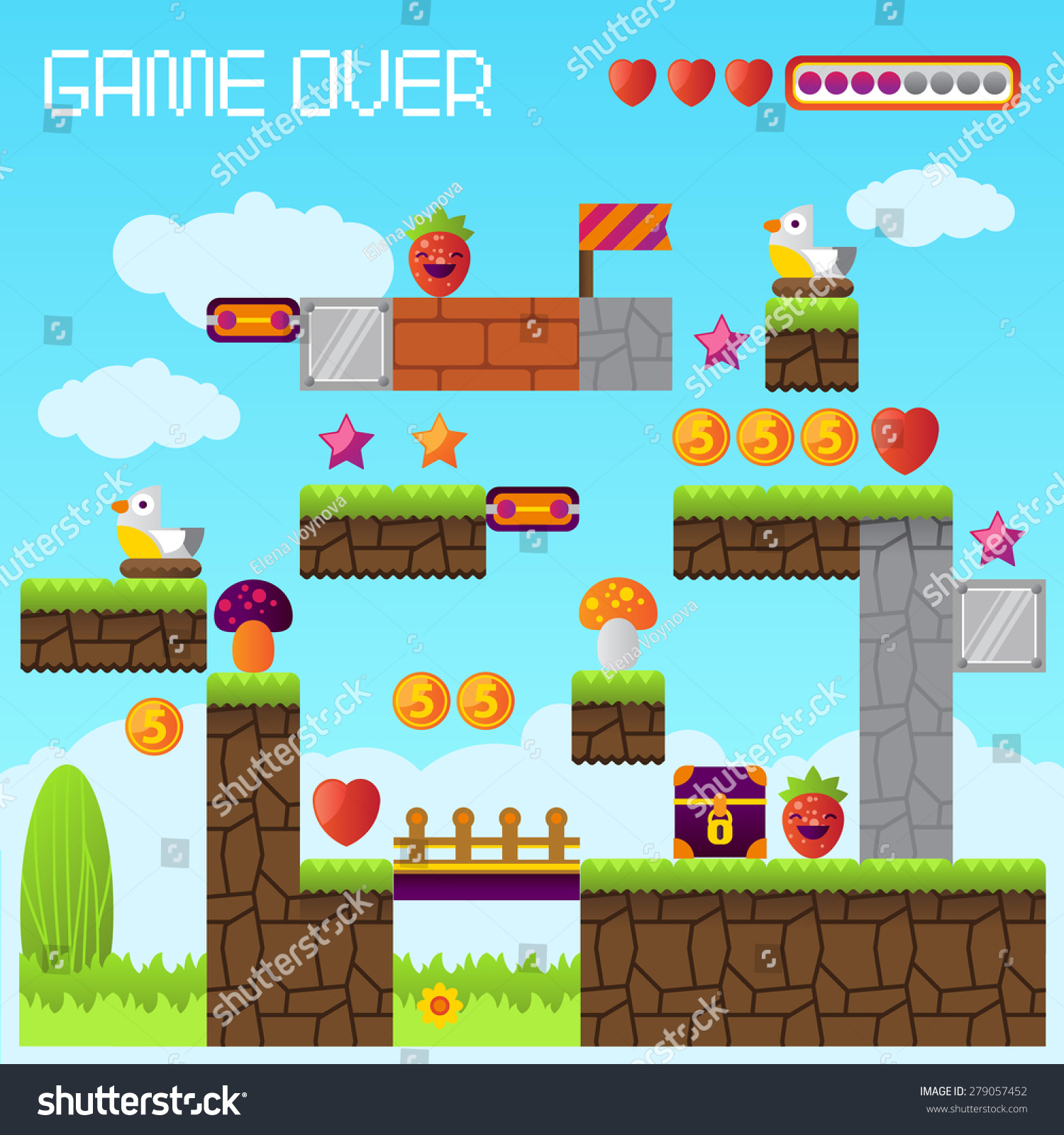 stock-vector-video-platform-game-interfa
