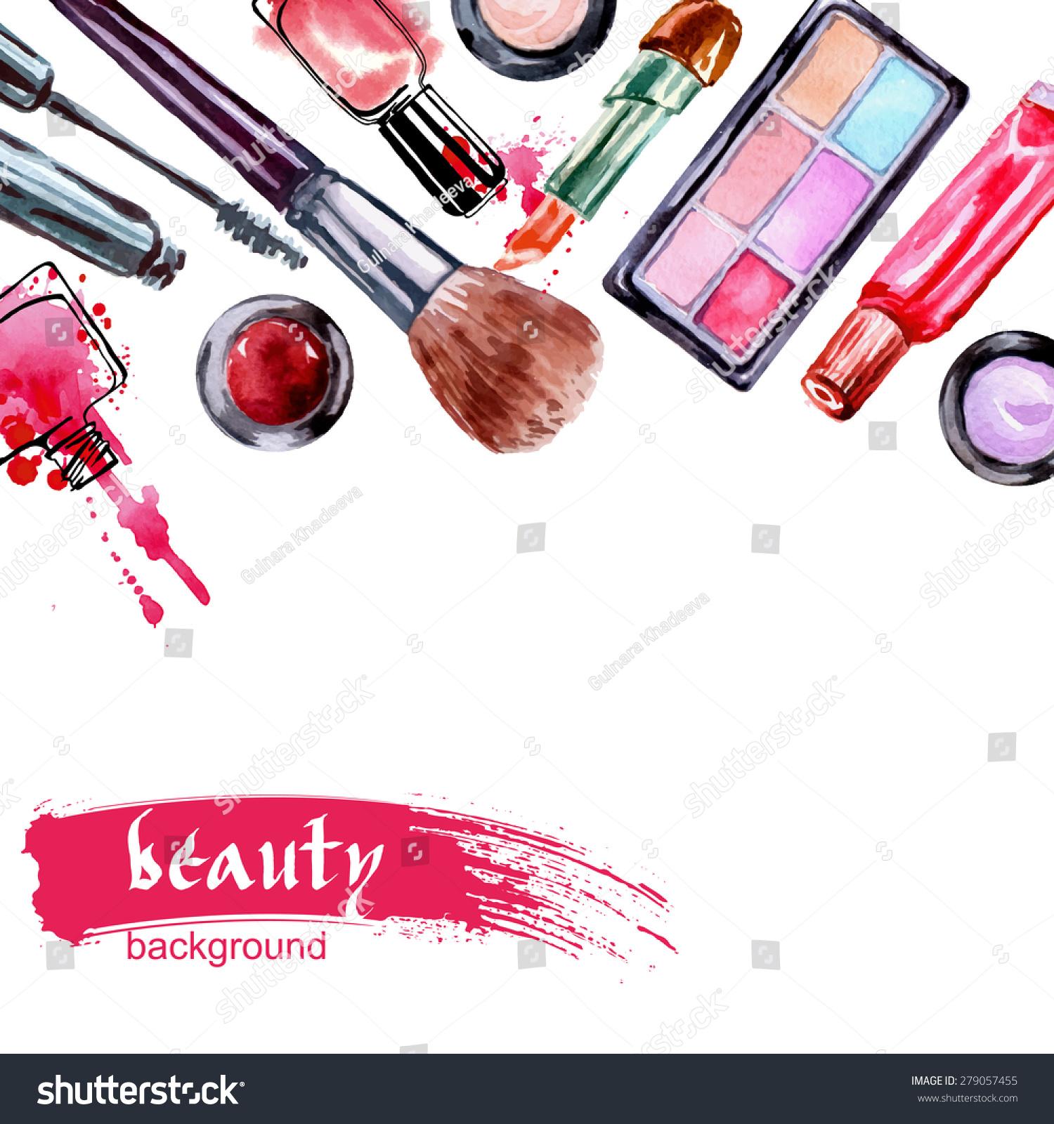 Makeup artist vector
