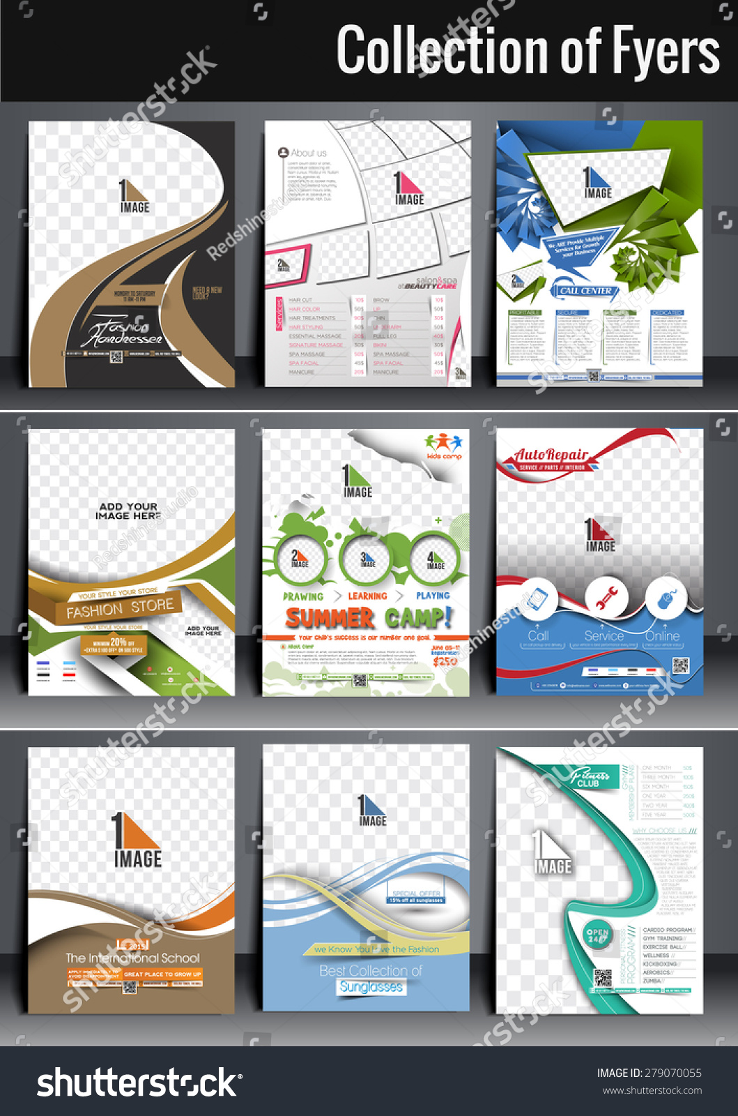 Poster design size - Set Of Flyer Poster Design In A4 Size Template