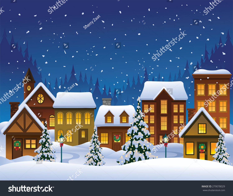 free christmas village clipart - photo #14