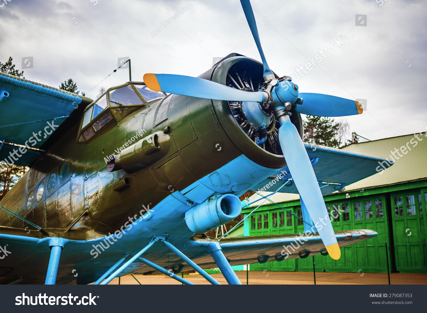Fuselage Old Singleengine Aircraft Propeller Stock Photo ...