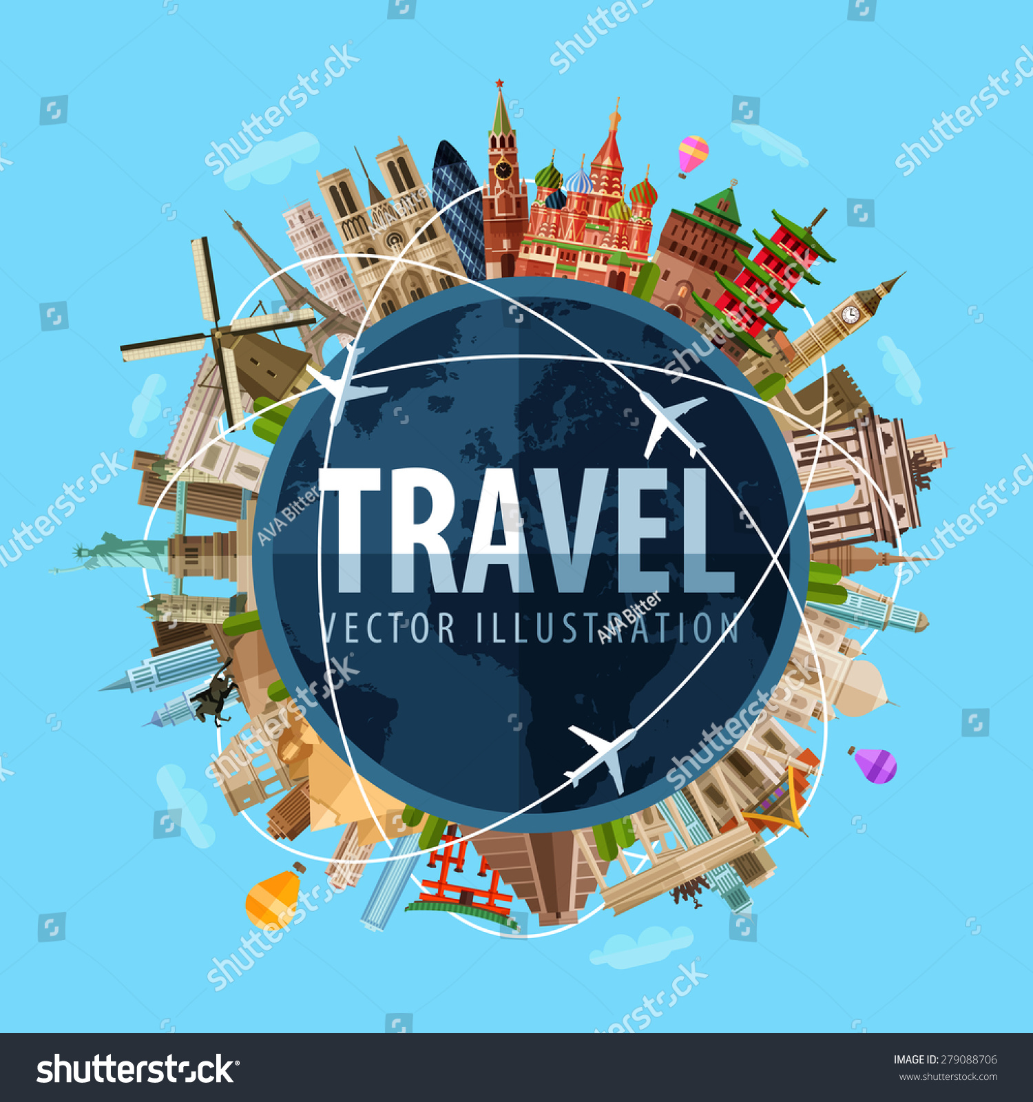 Travel Journey Vector Logo Design Template Vector 279088706 – Travel Maps Of The World