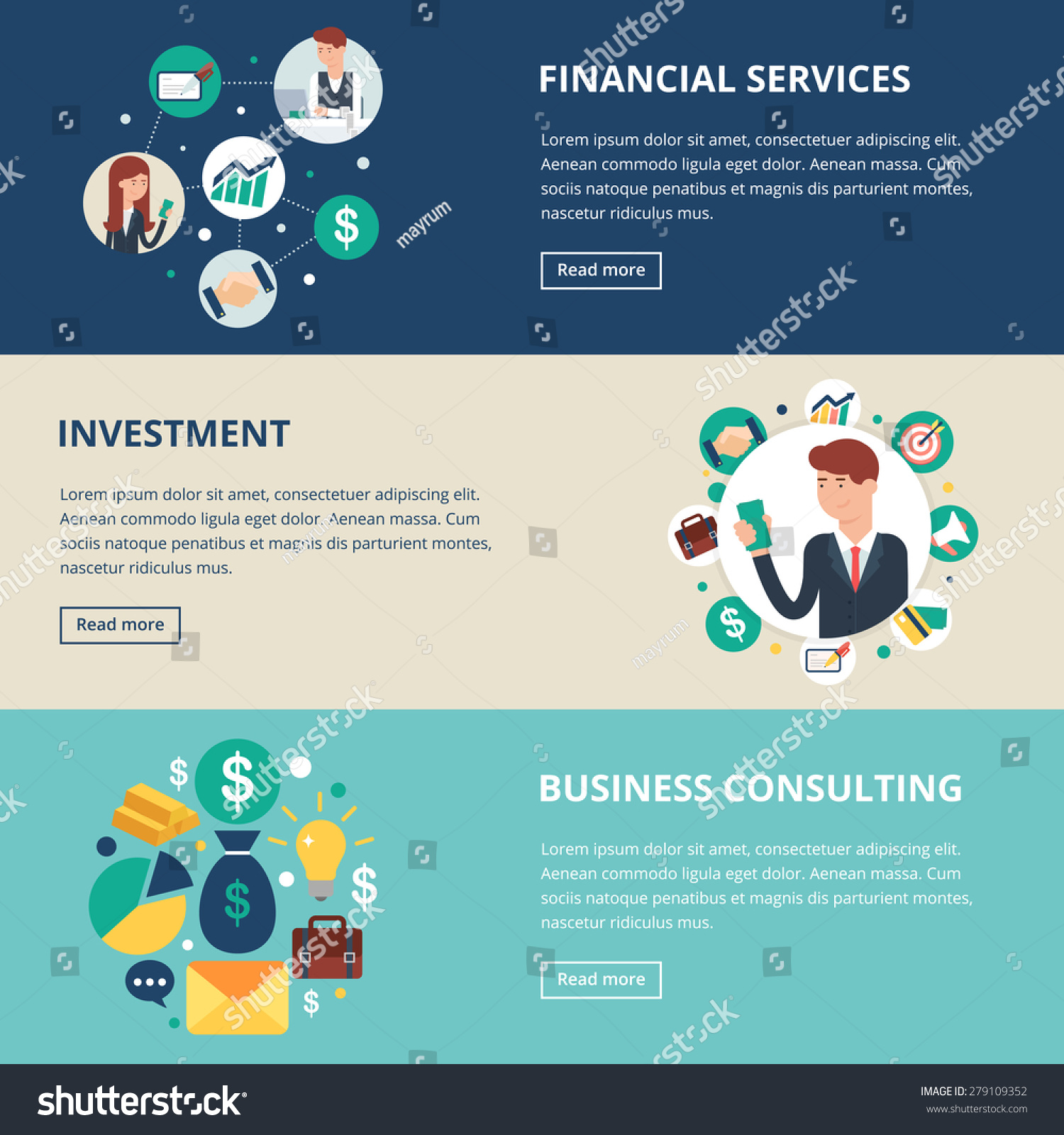 Business Banners Financial Services Investment Business Stock