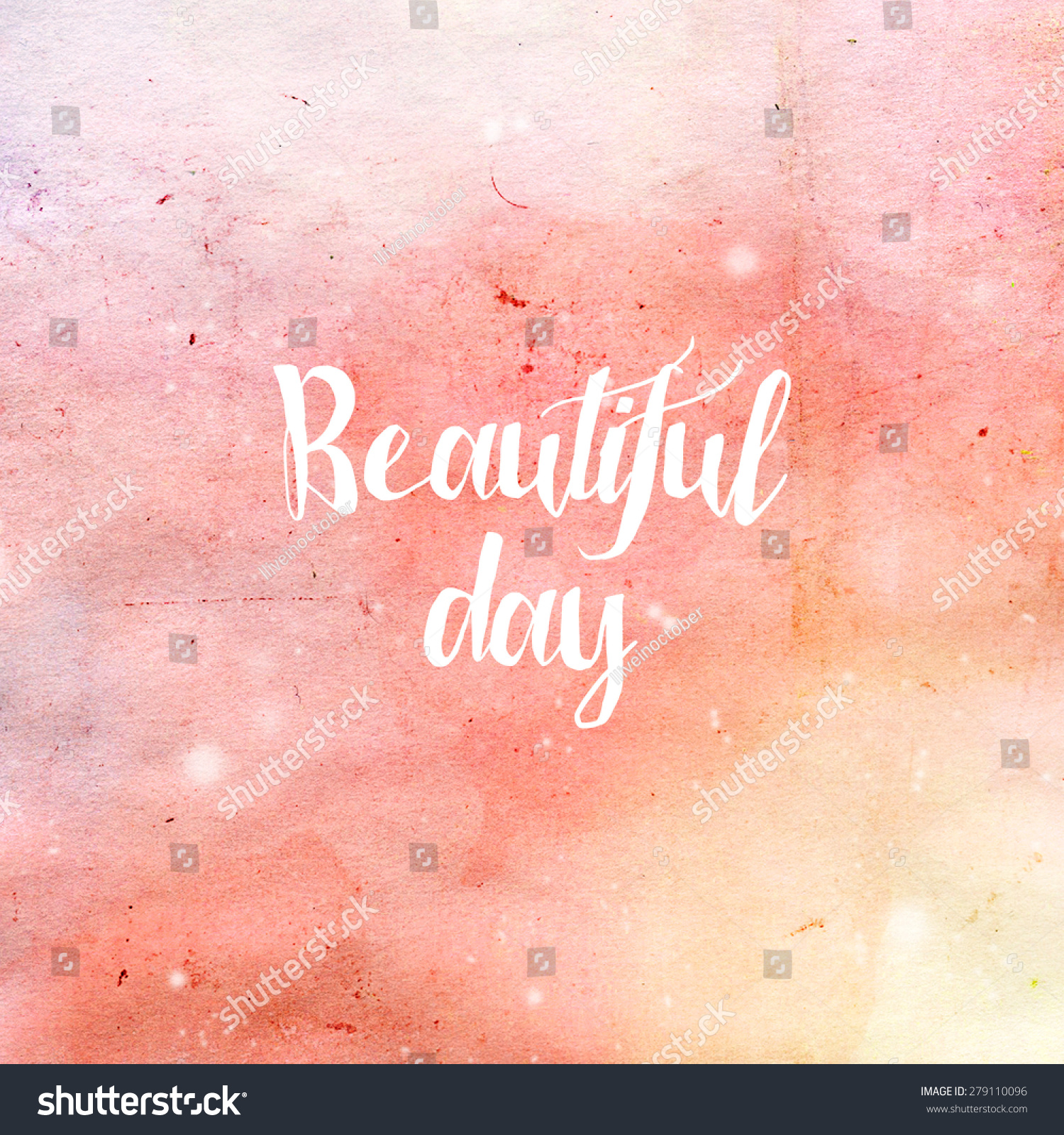 Beautiful Day Quotes Inspirational: Royalty-free Beautiful Day Typography Poster In Pink