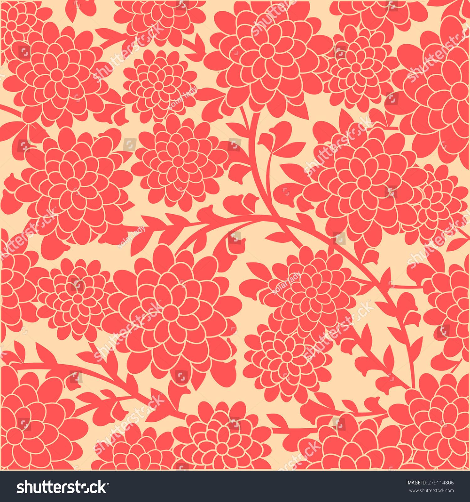 Japanese Floral Background Vector Illustration Backgrounds