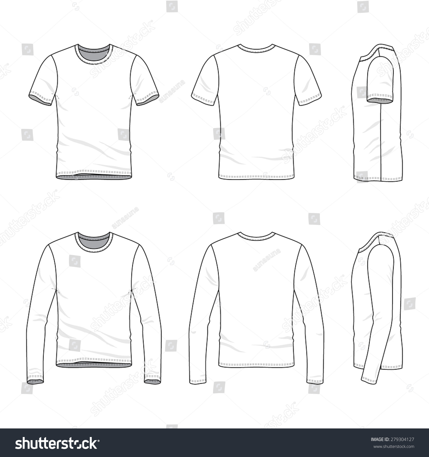 Blank T Shirts Cheap Stock Vector Men S Clothing Set Front Back