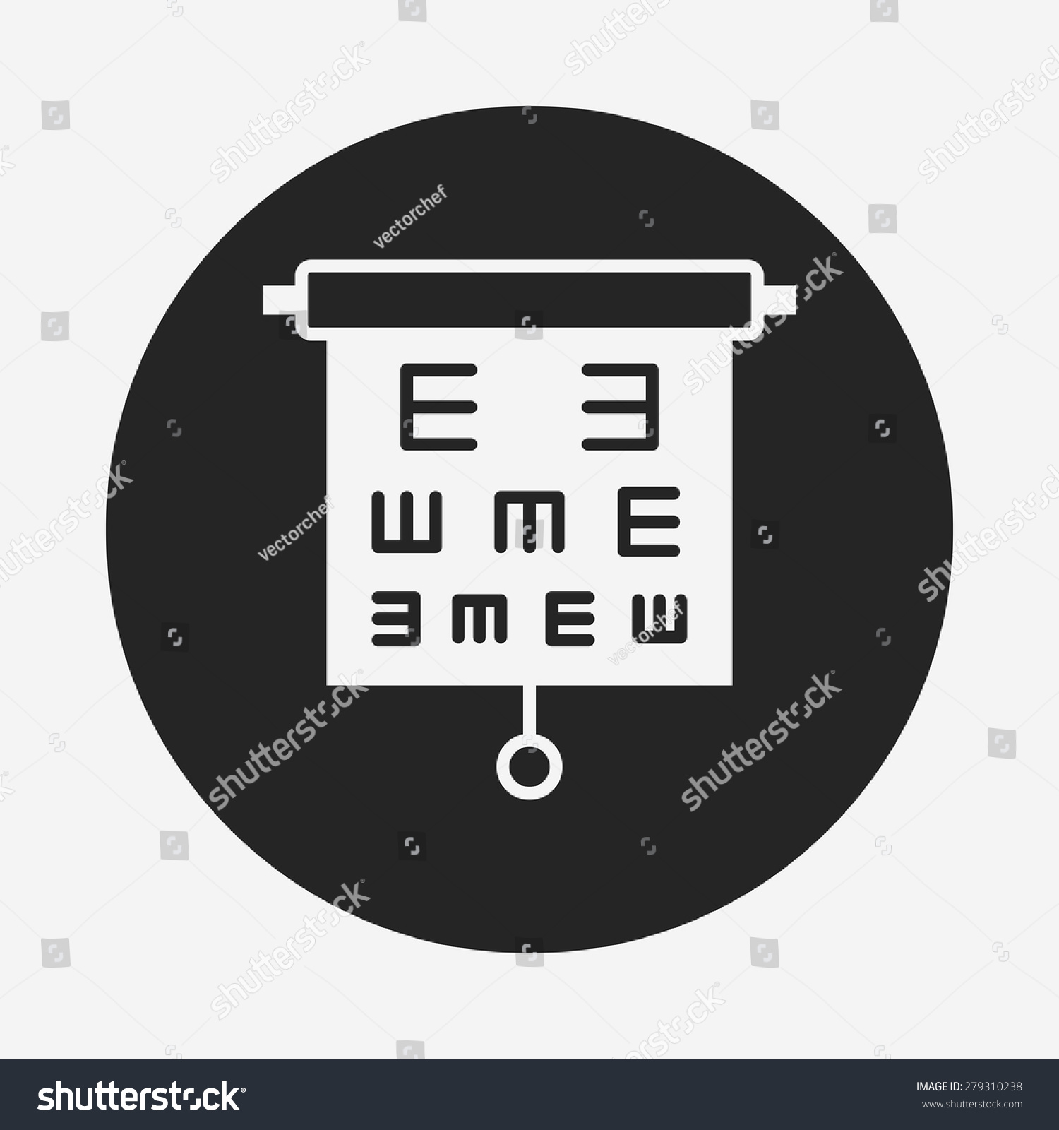 Eye Chart Icon Stock Vector Royalty Free 279310238 Shutterstock