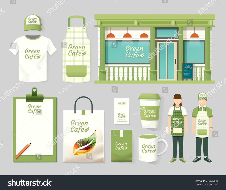 Shirt uniform design vector - Vector Restaurant Cafe Set Shop Front Design Flyer Menu Package T