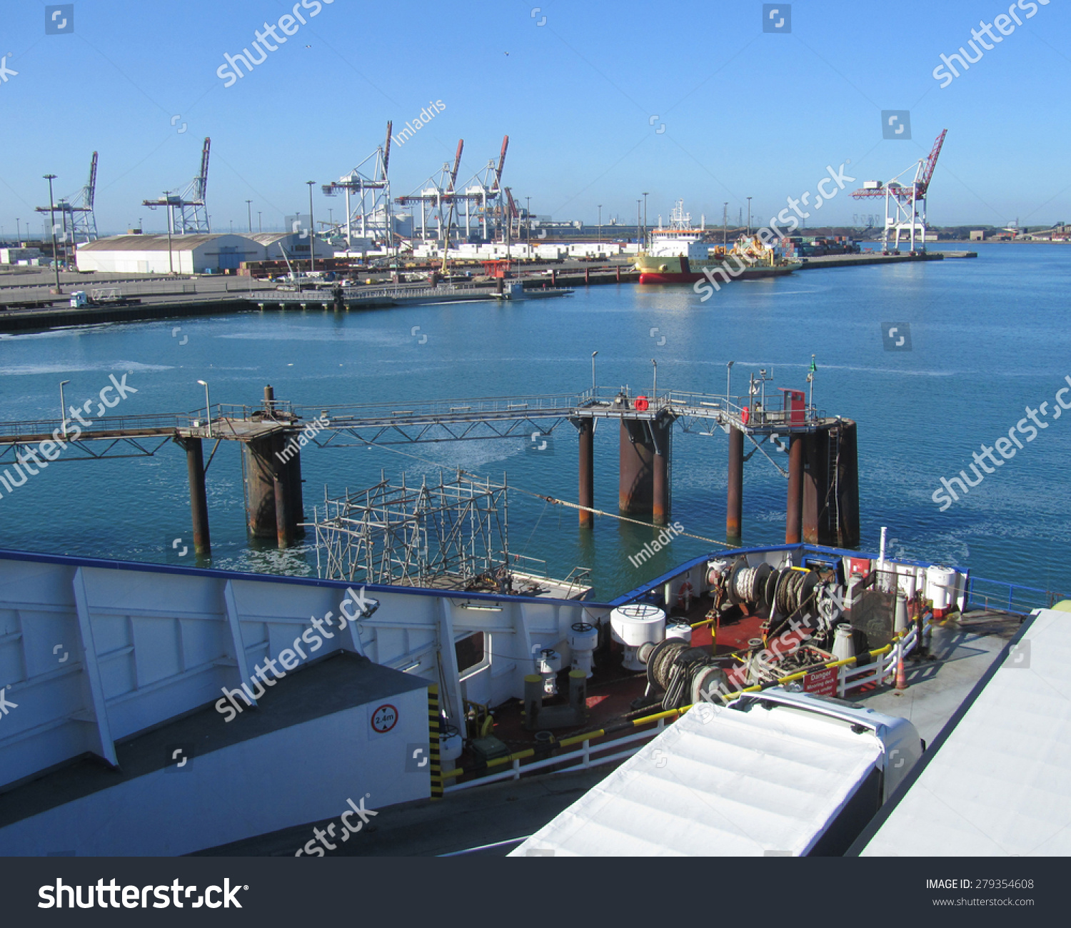 Dunkerque france may 13 2015 view of the ferry port in dunkerque the port connects to dover - Dunkirk port france address ...