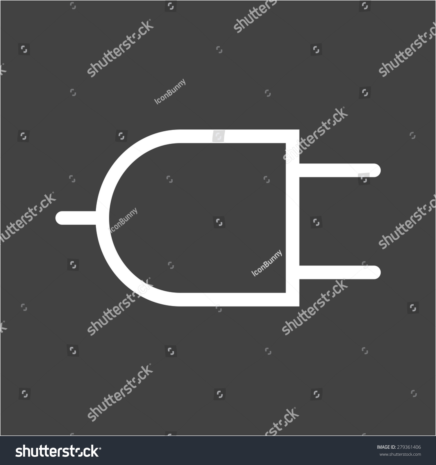 Plug Wire Two Pin Socket Icon Stock Photo (Photo, Vector ...