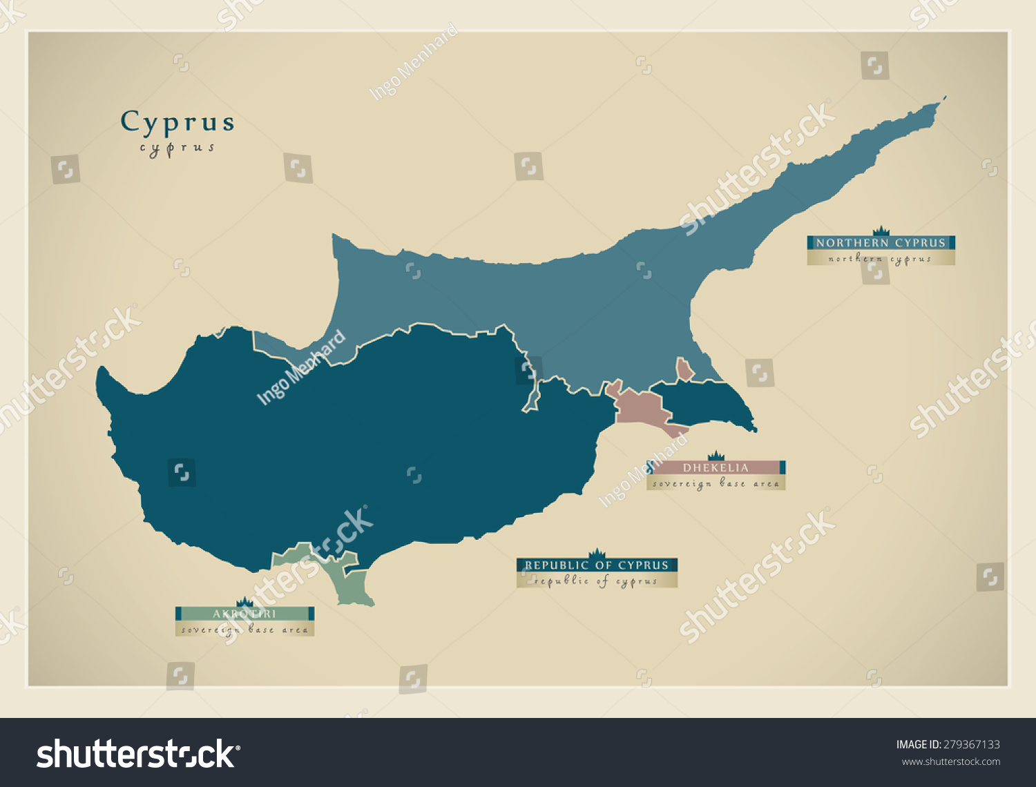 Modern map cyprus divided island cy vectores en stock 279367133 modern map cyprus the divided island cy gumiabroncs Image collections