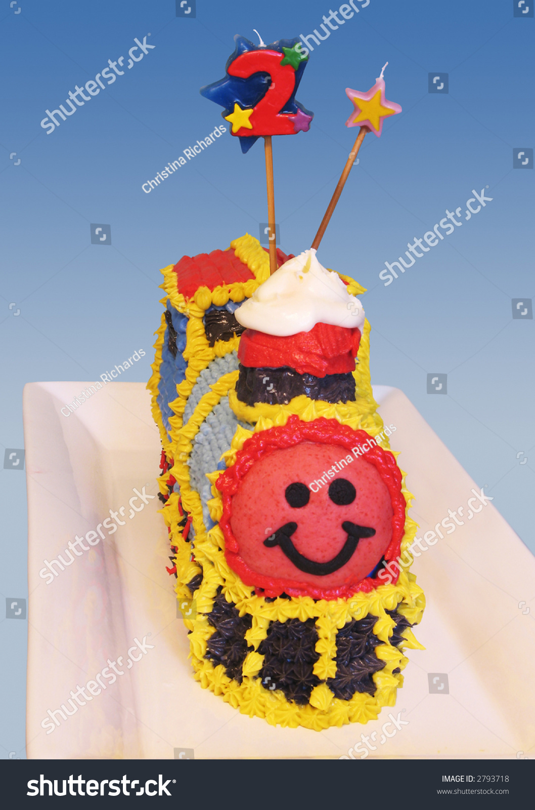 Cool Train Birthday Cake Front Stock Photo Edit Now 2793718 Birthday Cards Printable Benkemecafe Filternl