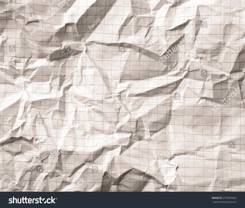 Crumpled Gray Blank Math Grid Paper Stock Photo (Photo, Vector ...