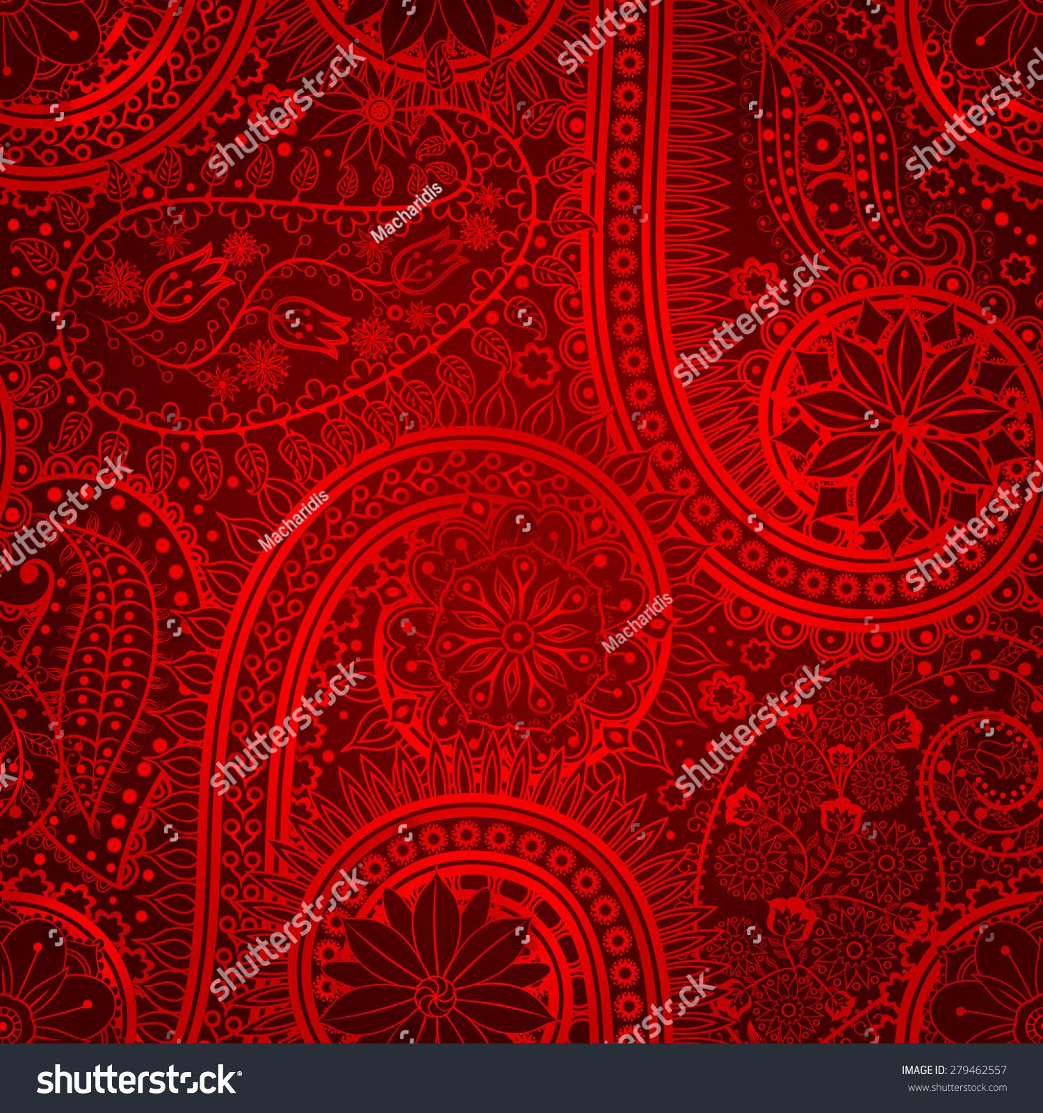 vintage floral motif ethnic seamless background stock vector 279462557 shutterstock. Black Bedroom Furniture Sets. Home Design Ideas