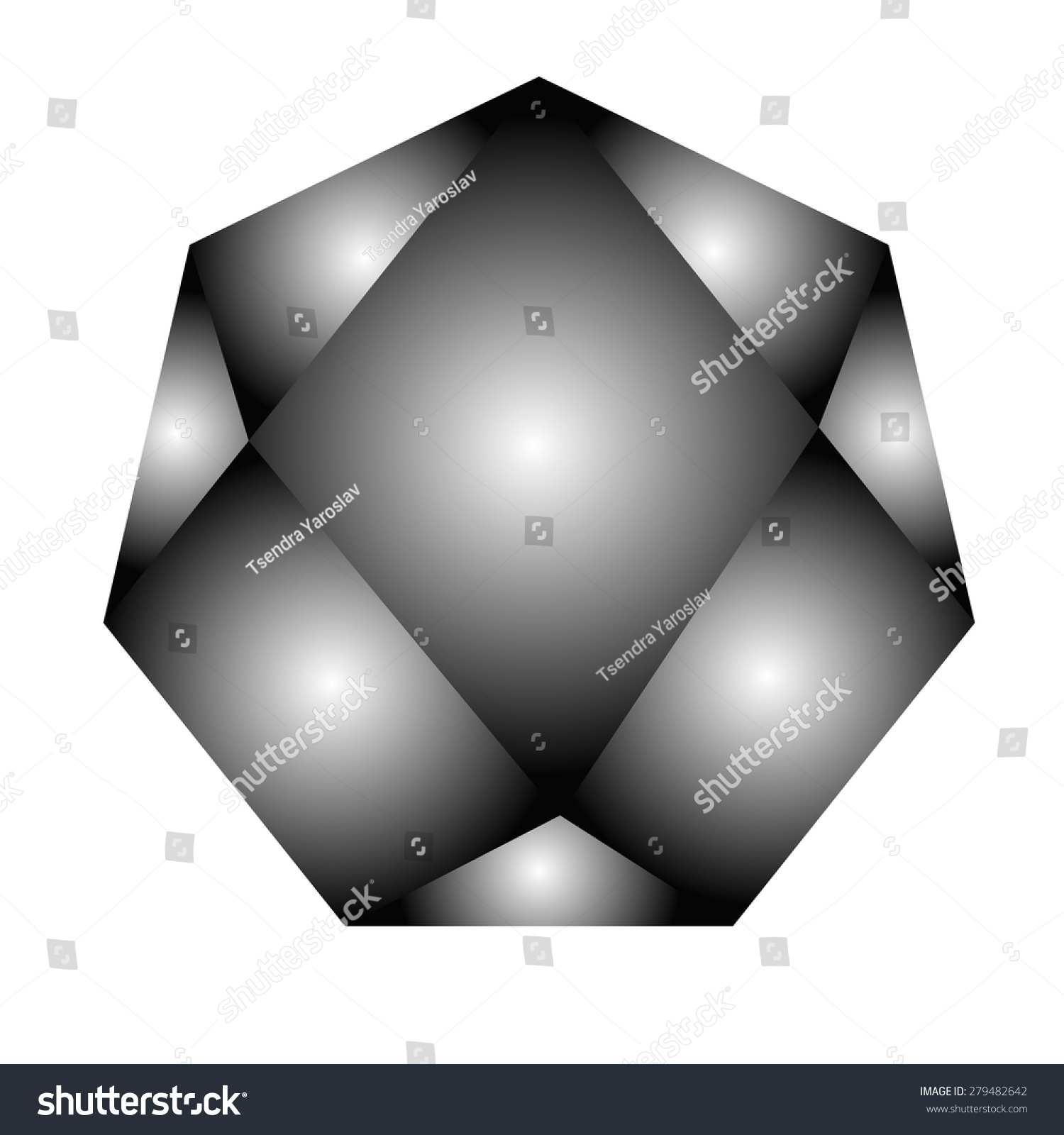 white black polygon illustration free objects royalty background eps image stock vector set diamond