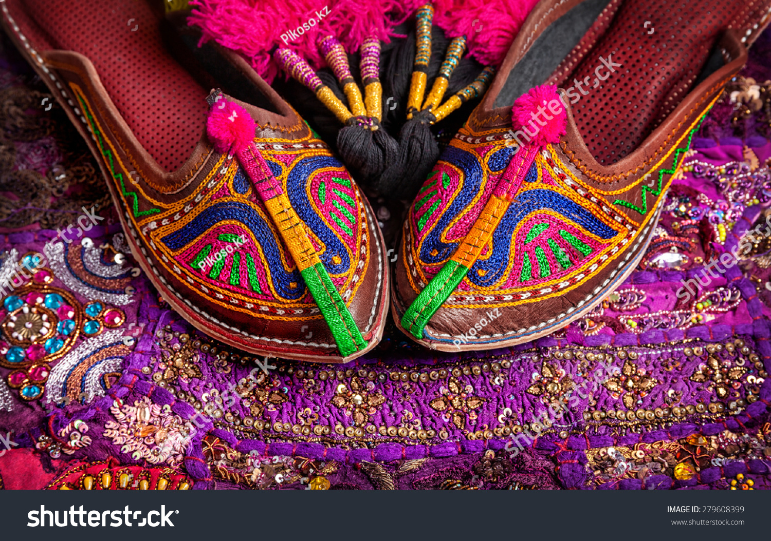 Colorful Ethnic Shoes Camel Decorations On Stock Photo 279608399