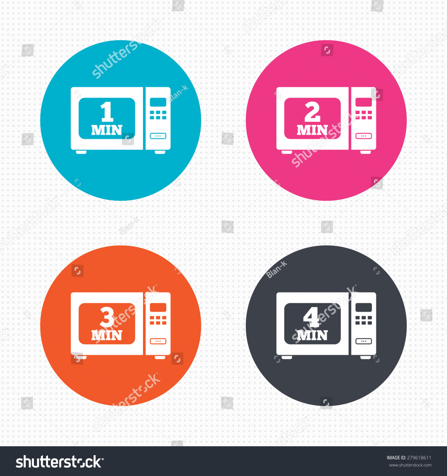 Circle buttons microwave oven icons cook stock vector 279618611 microwave oven icons cook in electric stove symbols heat 1 buycottarizona Image collections