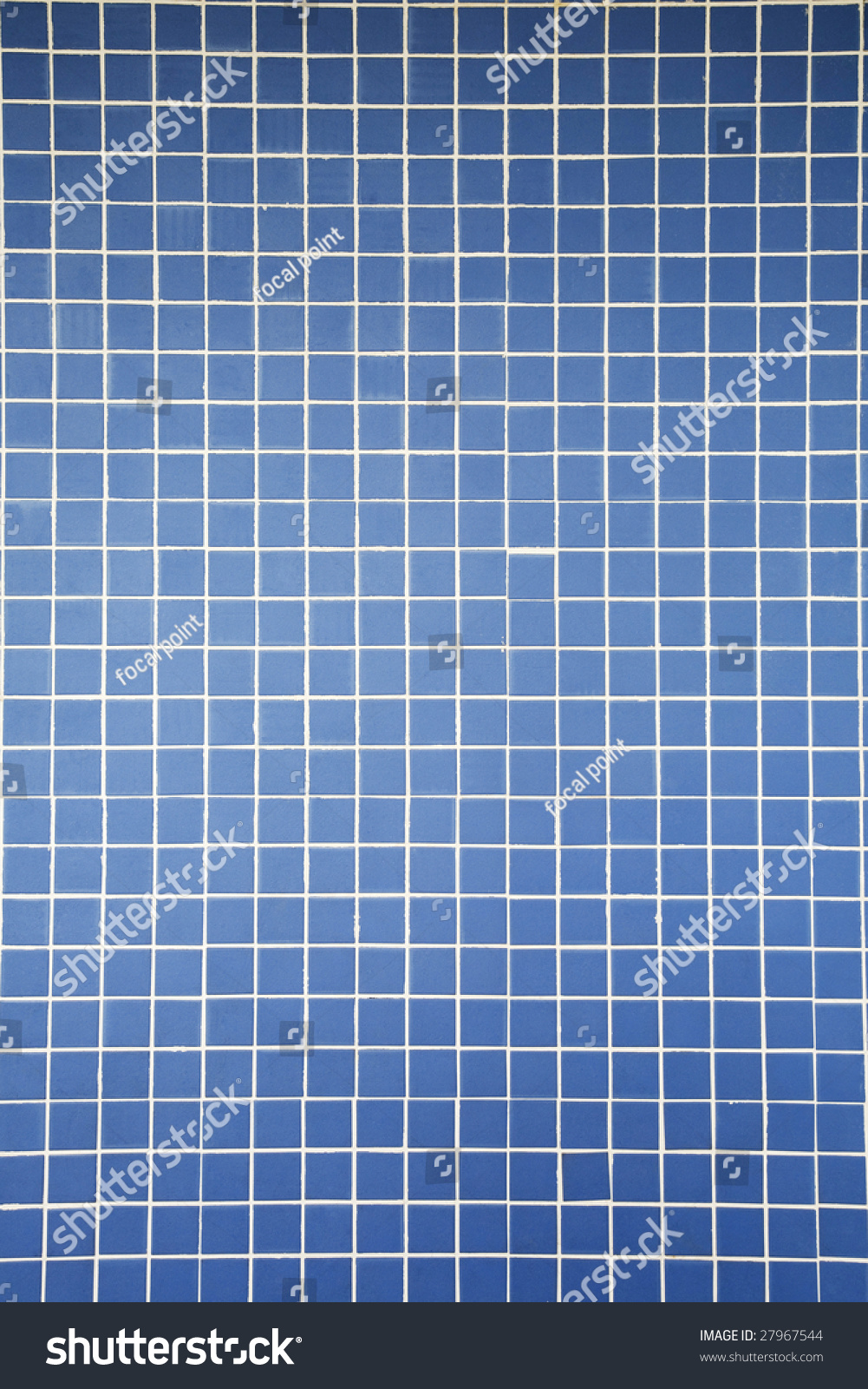 Wall Combination Small Blue Color Tiles Stock Photo (Edit Now ...