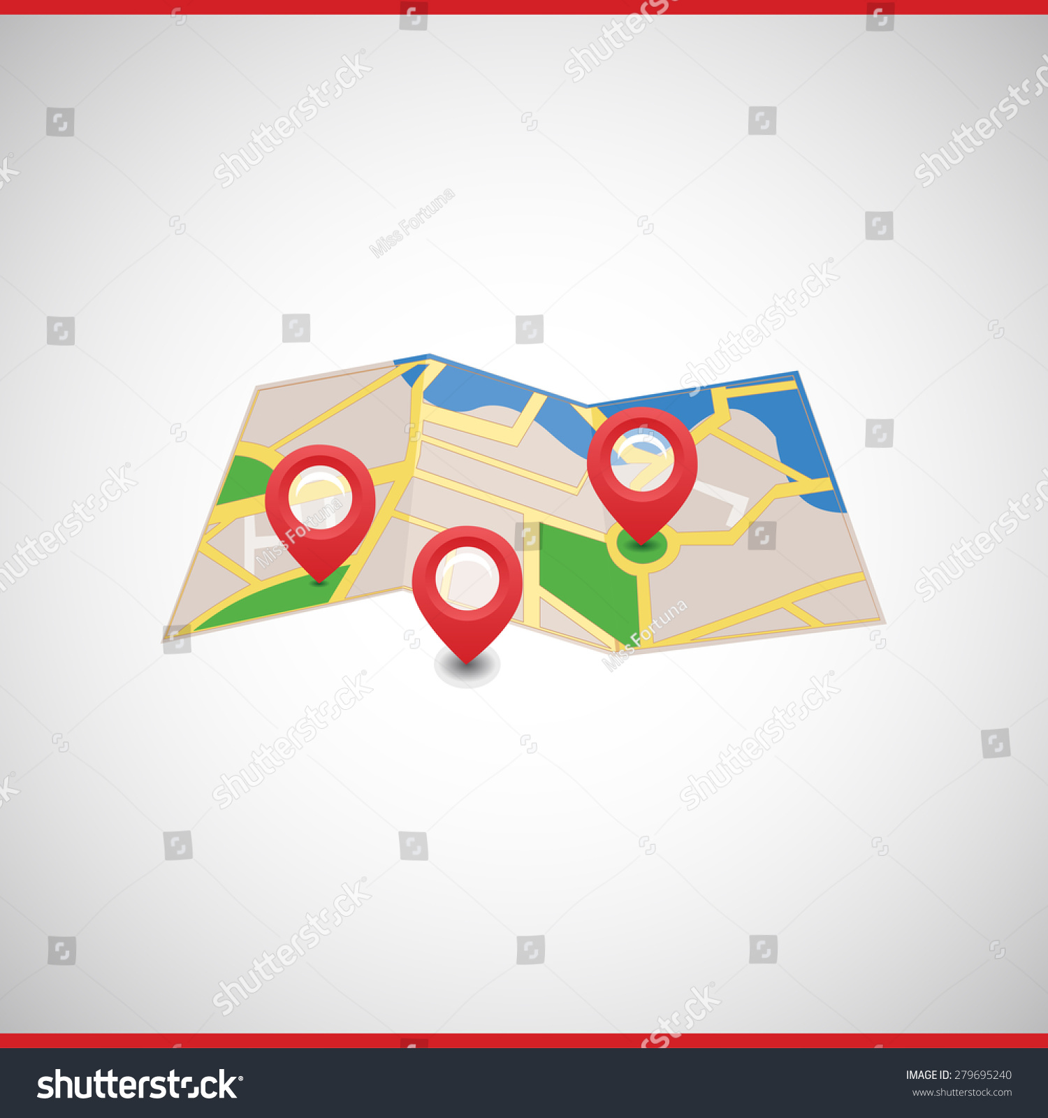 Vector map markers symbols icon index stock vector 279695240 vector map with markers and symbols icon and index the road and the orientation biocorpaavc Gallery