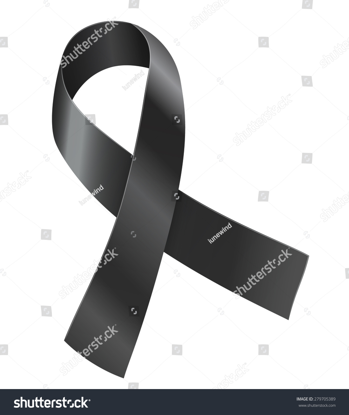 Black Ribbon Sickle Cell Disease 911 Stock Photo 279705389