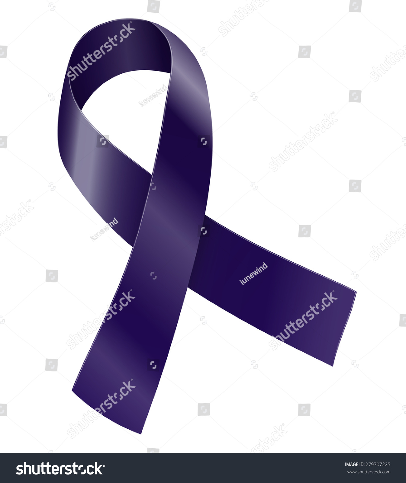 Purple indigo ribbon cancer survivor targeted stock vector cancer survivor targeted individuals and other awareness symbol vector illustration biocorpaavc Image collections