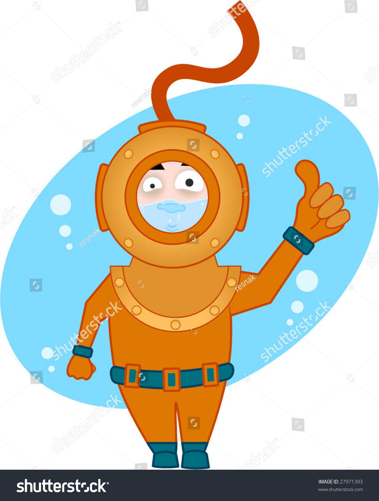 Stock Vector Vector Illustration Of Cartoon Diver