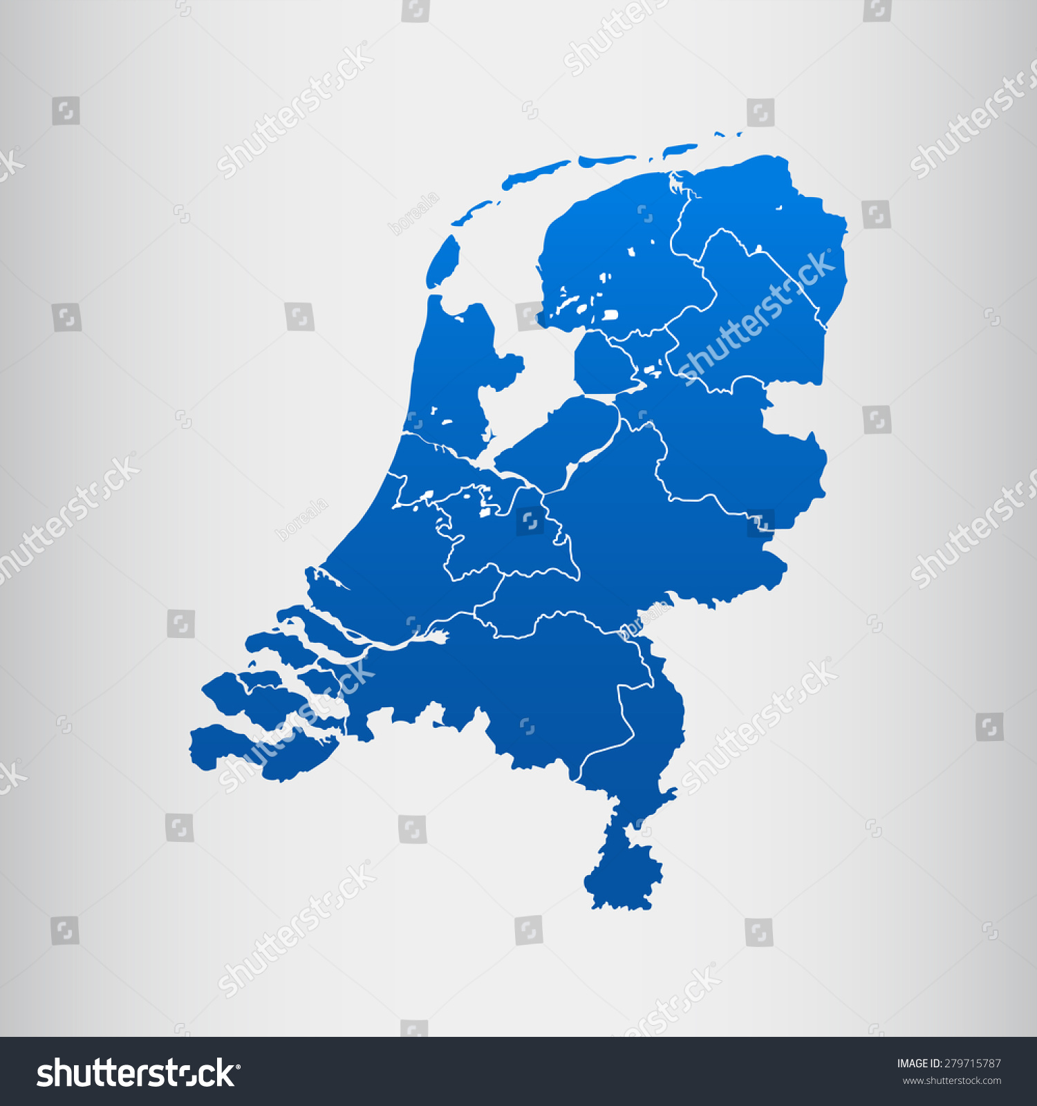 Map Of Netherlands Stock Vector Illustration 279715787